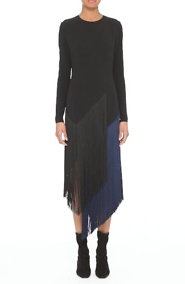 Fringe Skirt Stretch Cady Dress, video thumbnail