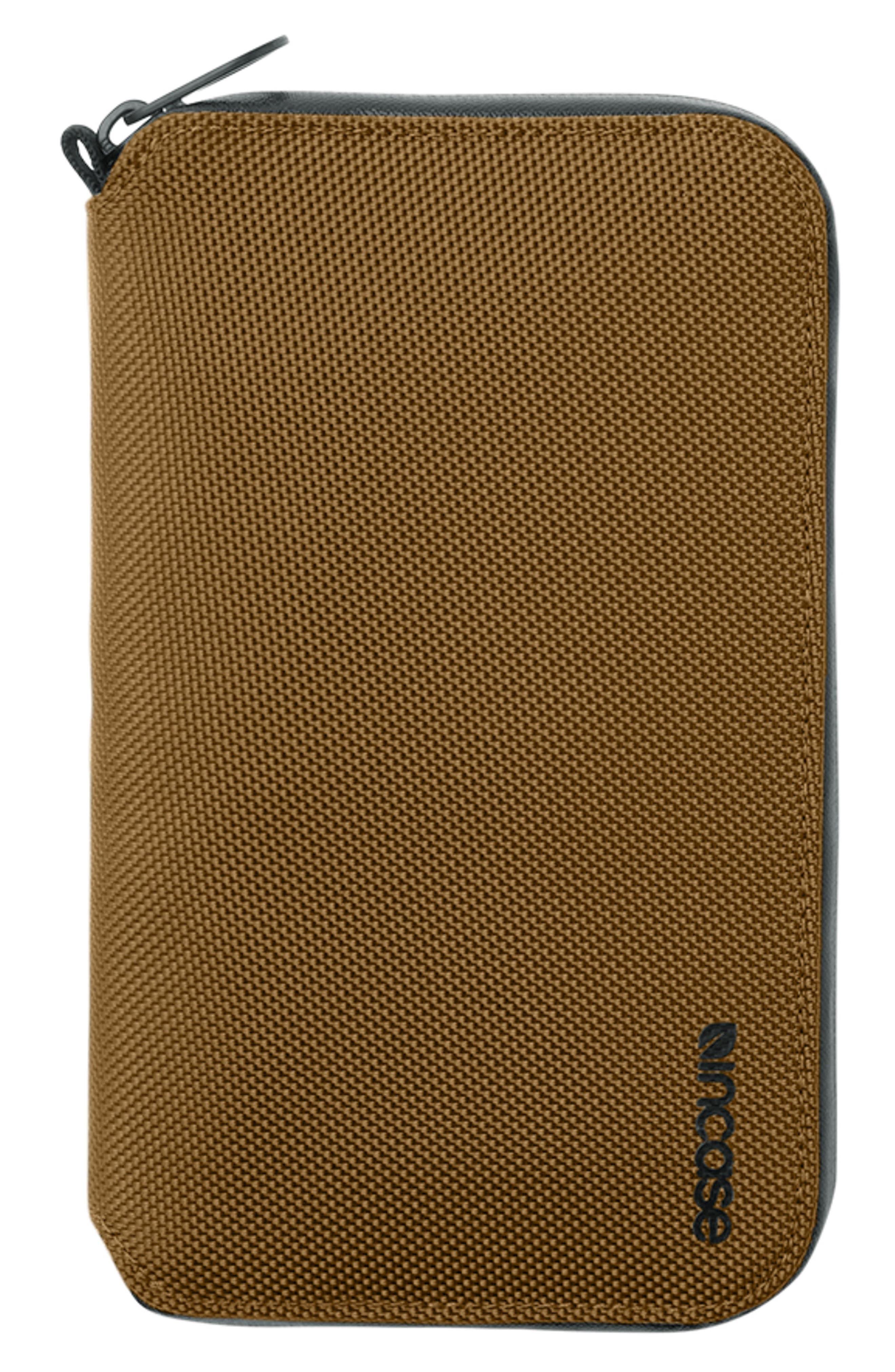 Zip Passport Wallet,                         Main,                         color, BRONZE