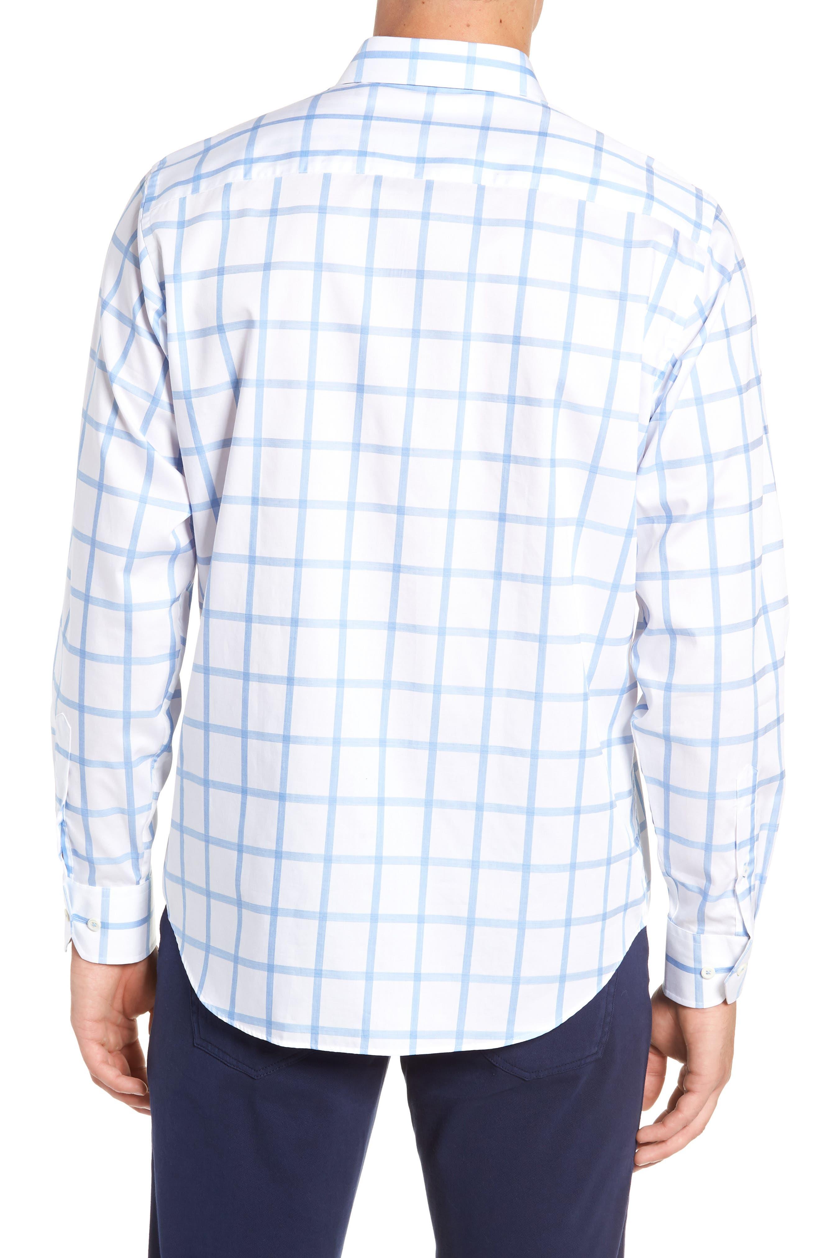 Classic Fit Sport Shirt,                             Alternate thumbnail 3, color,                             SKY