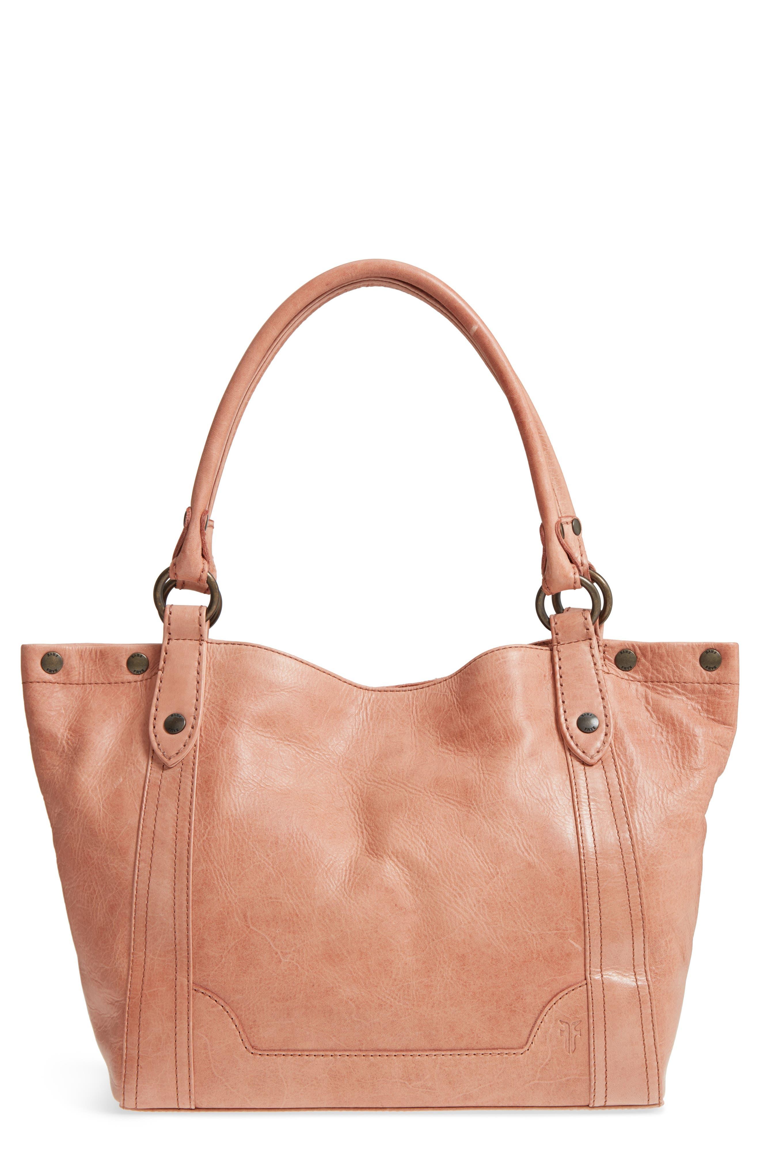 Melissa Leather Shoulder Bag,                         Main,                         color, DUSTY ROSE