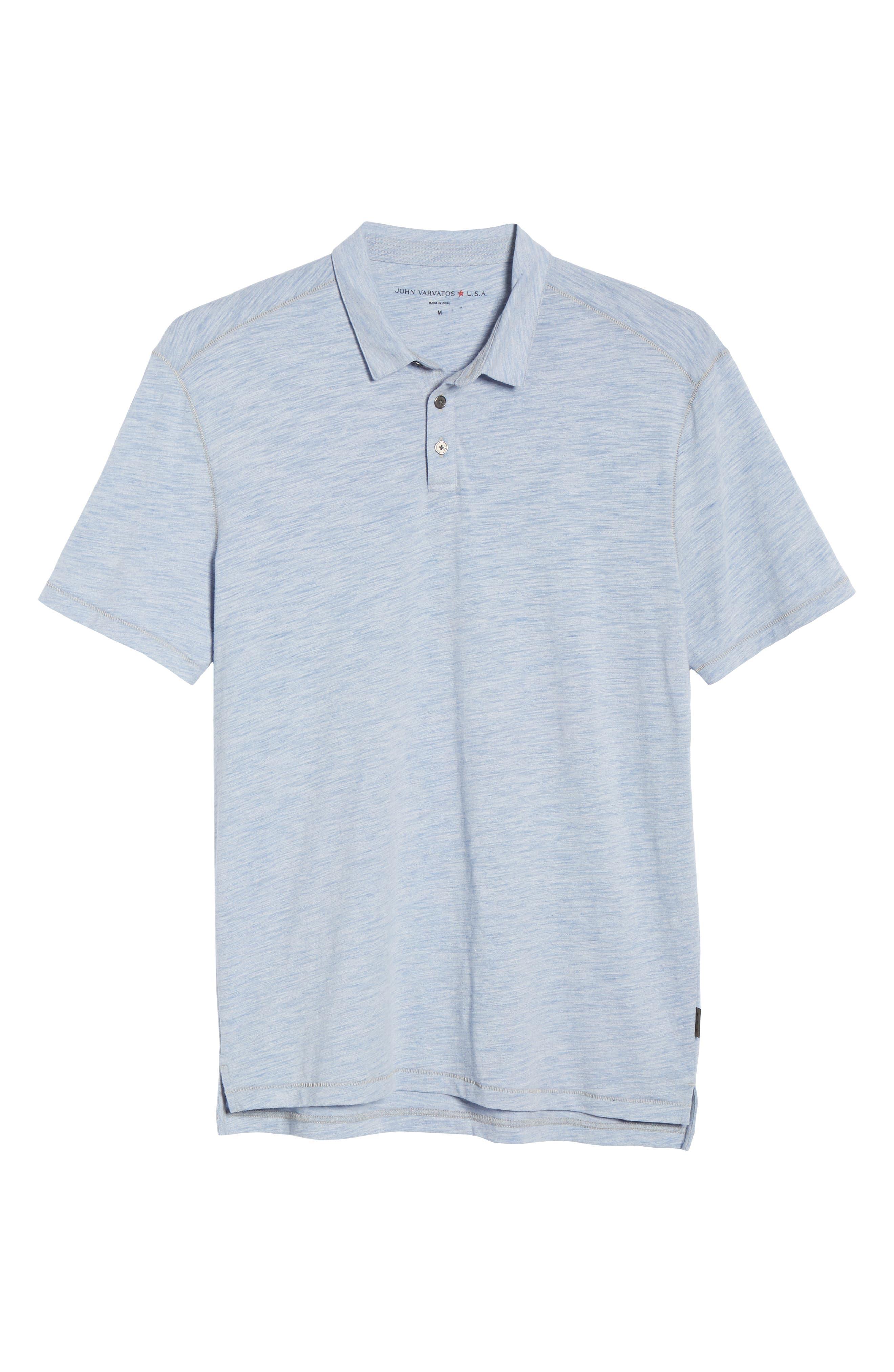 Gregory Moulinex Regular Fit Polo,                             Alternate thumbnail 6, color,                             STREAM BLUE