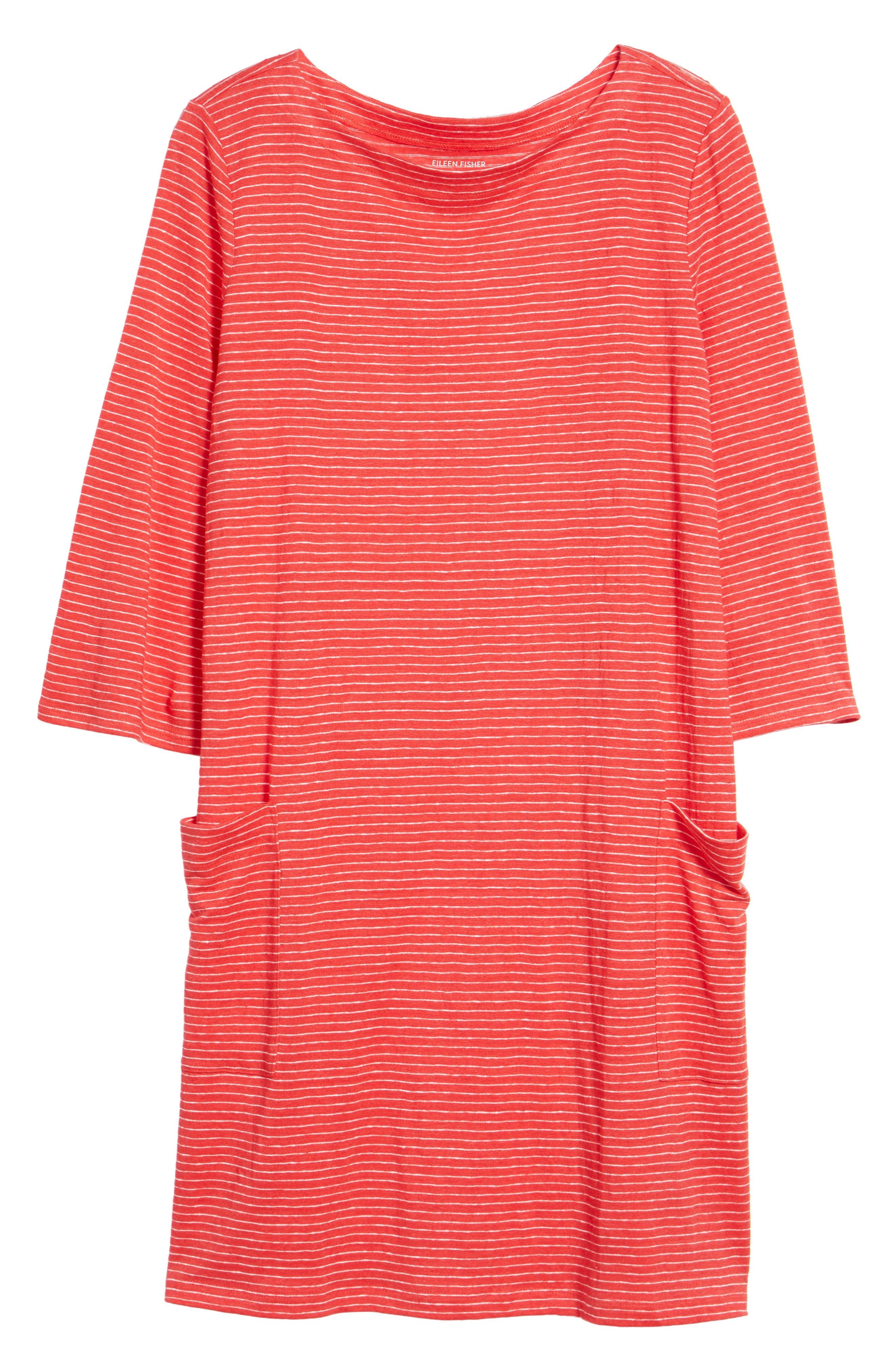Organic Linen Shift Dress,                             Alternate thumbnail 17, color,