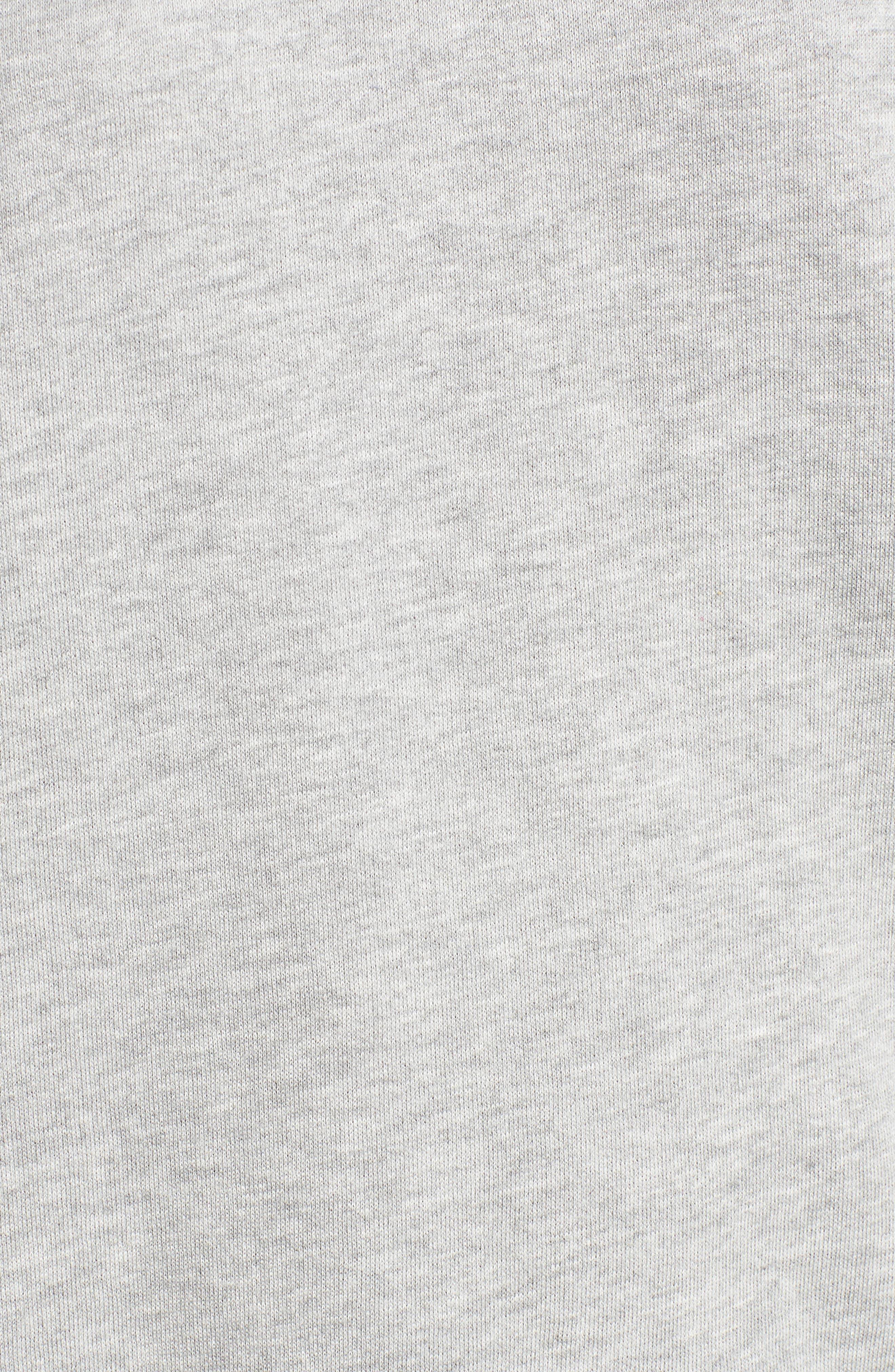 Flannel Sleeve Sweatshirt,                             Alternate thumbnail 5, color,                             030