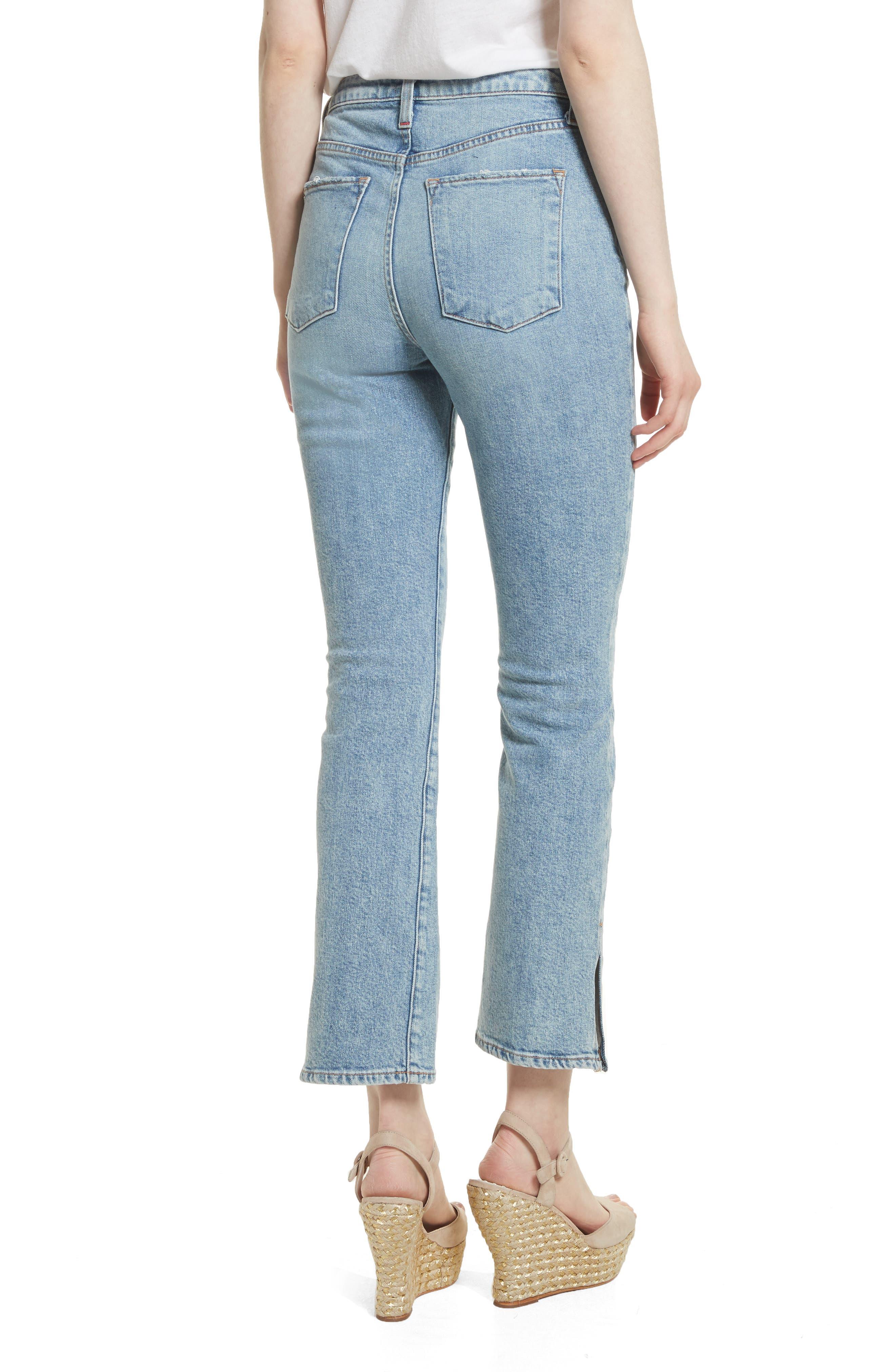 AO.LA Fabulous High Waist Baby Bootcut Jeans,                             Alternate thumbnail 2, color,