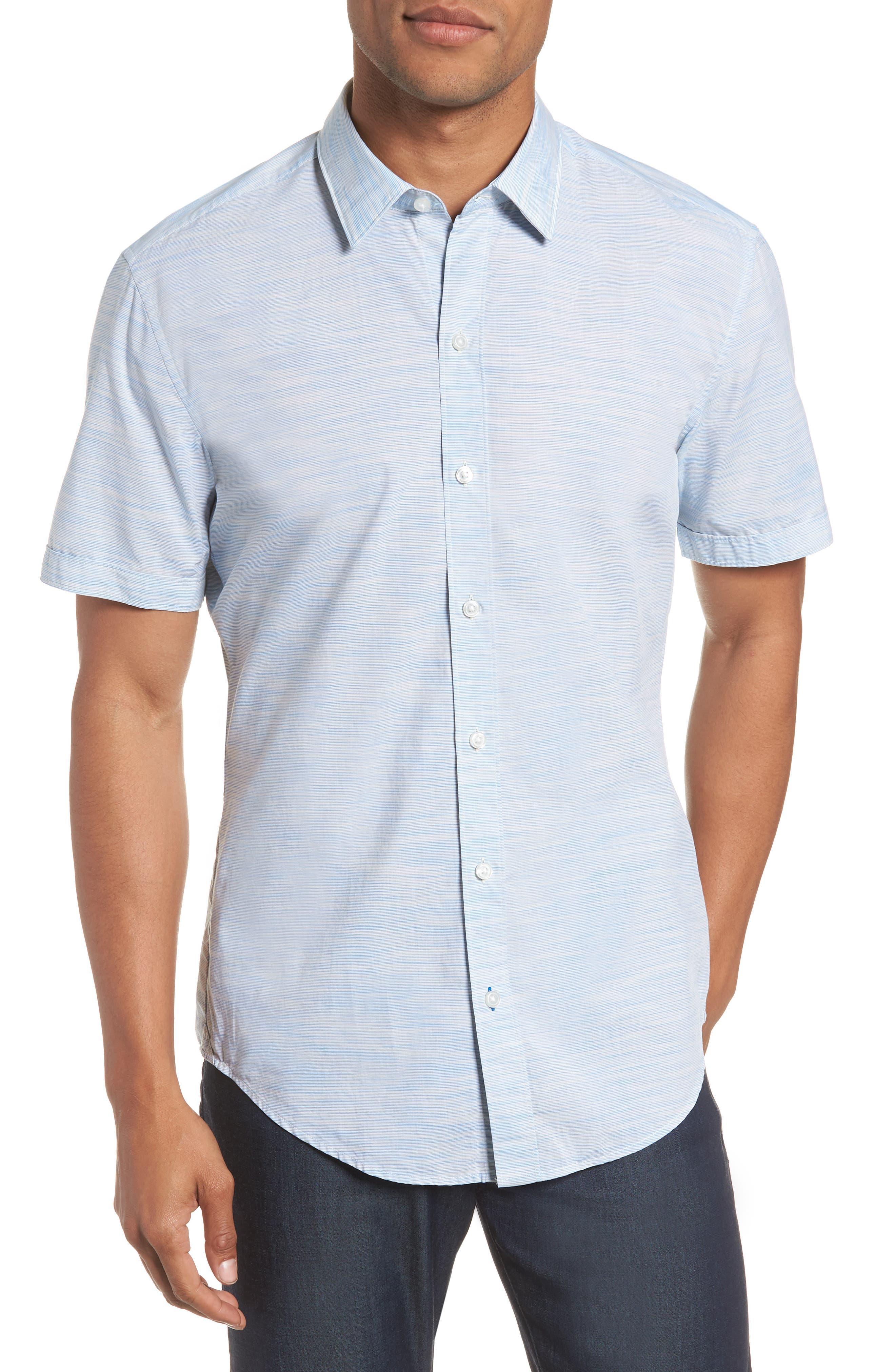 Space Dyed Trim Fit Sport Shirt,                         Main,                         color, 470