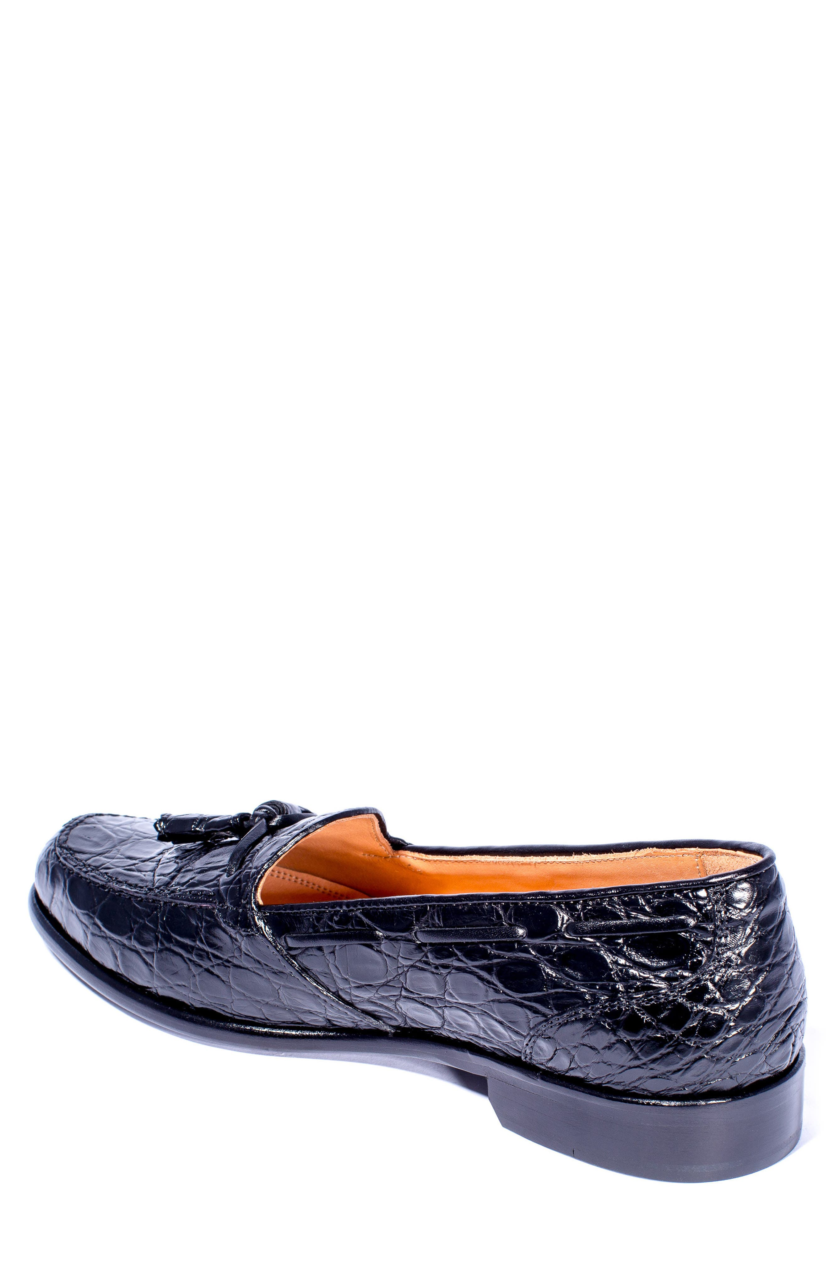 Franco Tassel Exotic Leather Loafer,                             Alternate thumbnail 2, color,                             001