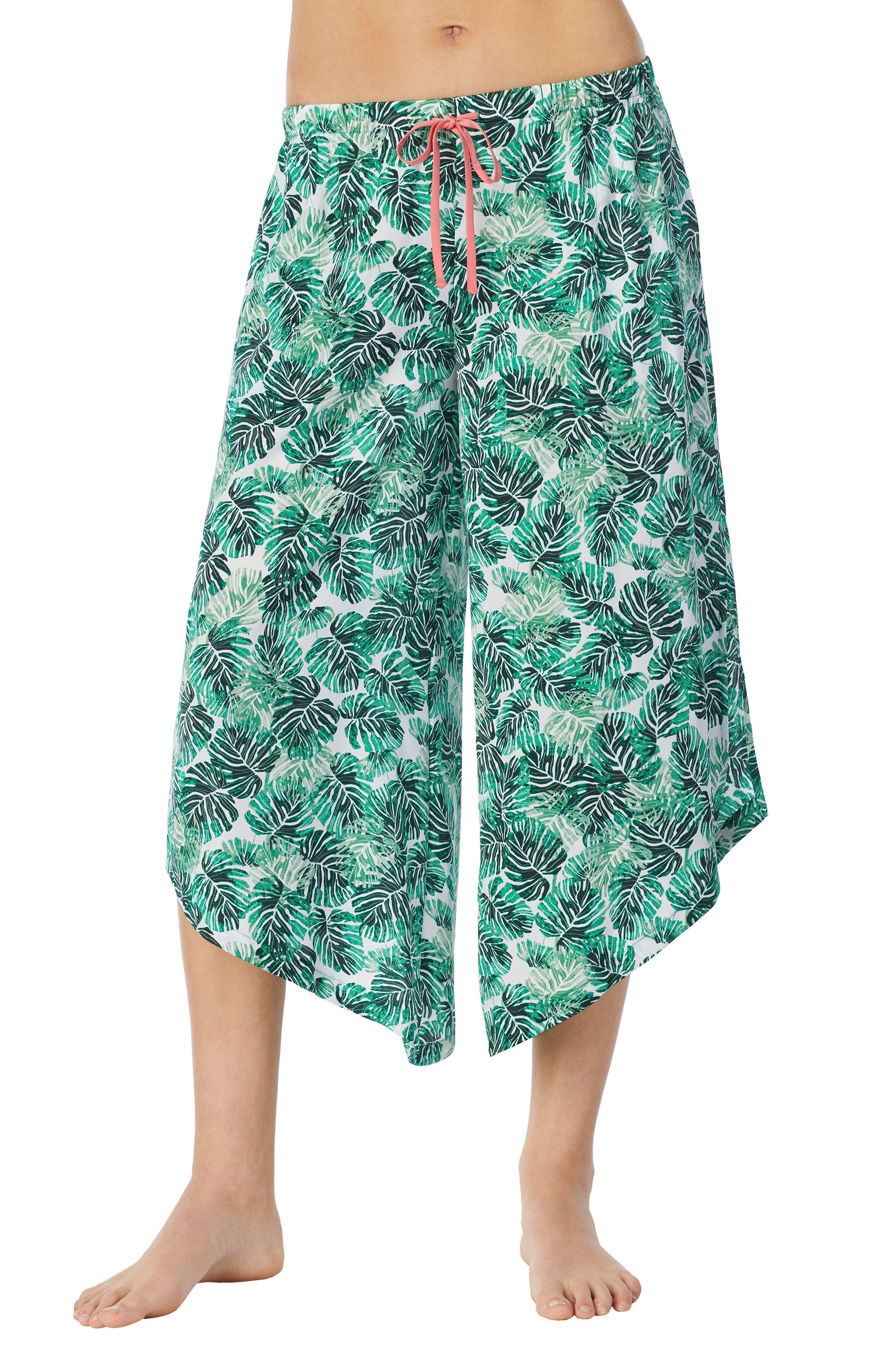Satin Crop Pants,                         Main,                         color, 345