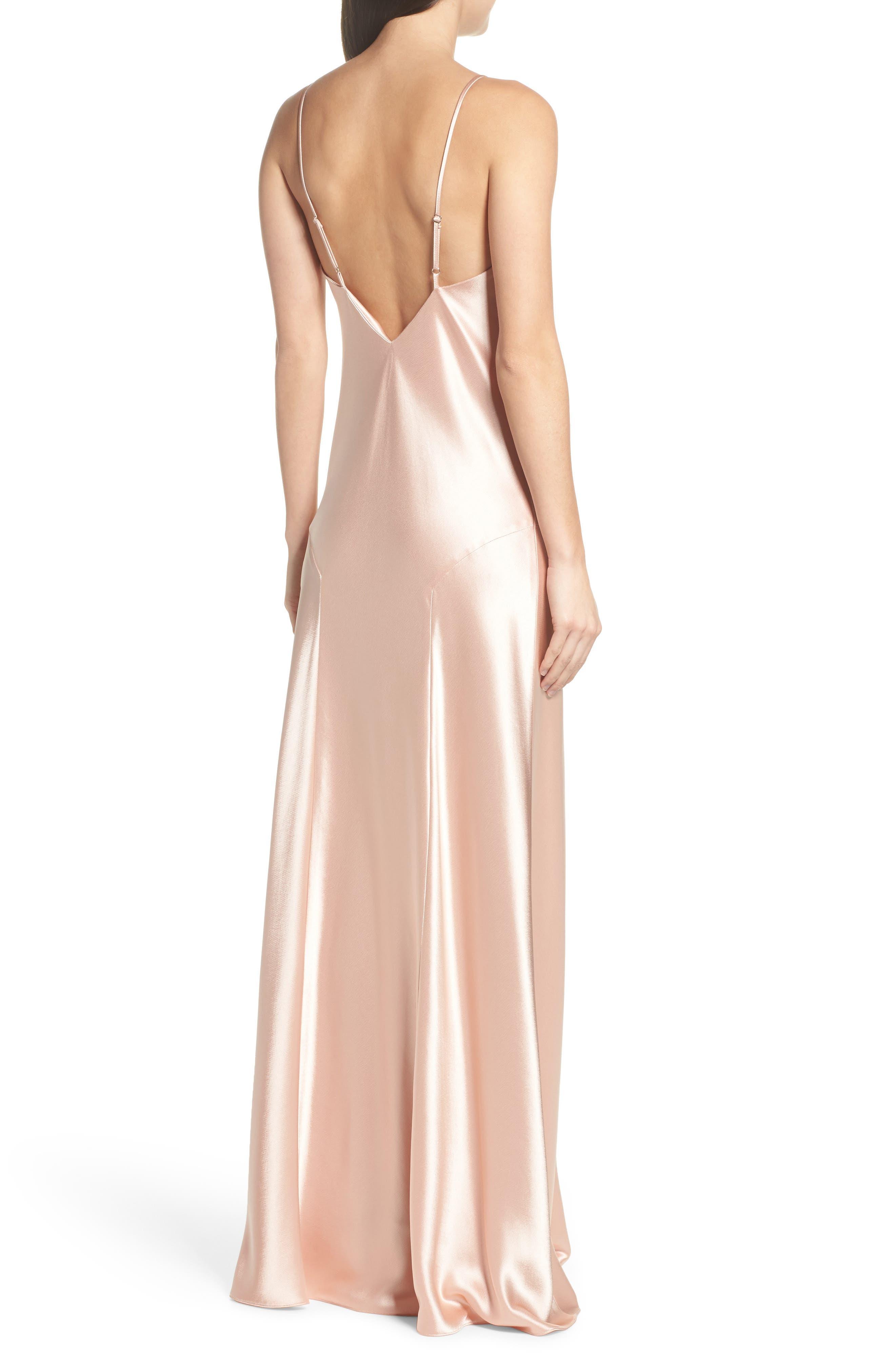 Carmen Embellished Satin Slip Gown,                             Alternate thumbnail 2, color,                             691