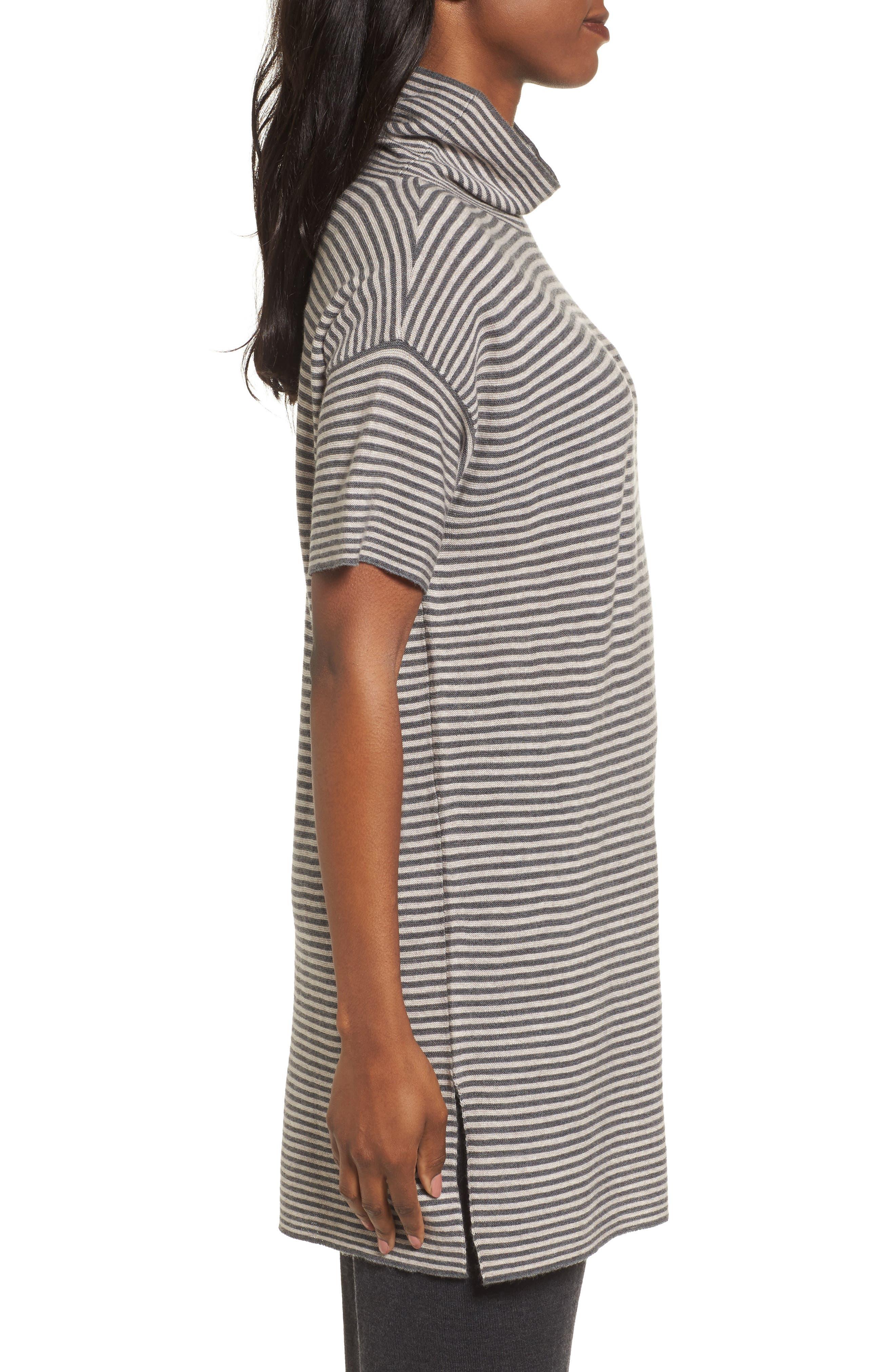 Stripe Merino Wool Tunic,                             Alternate thumbnail 6, color,