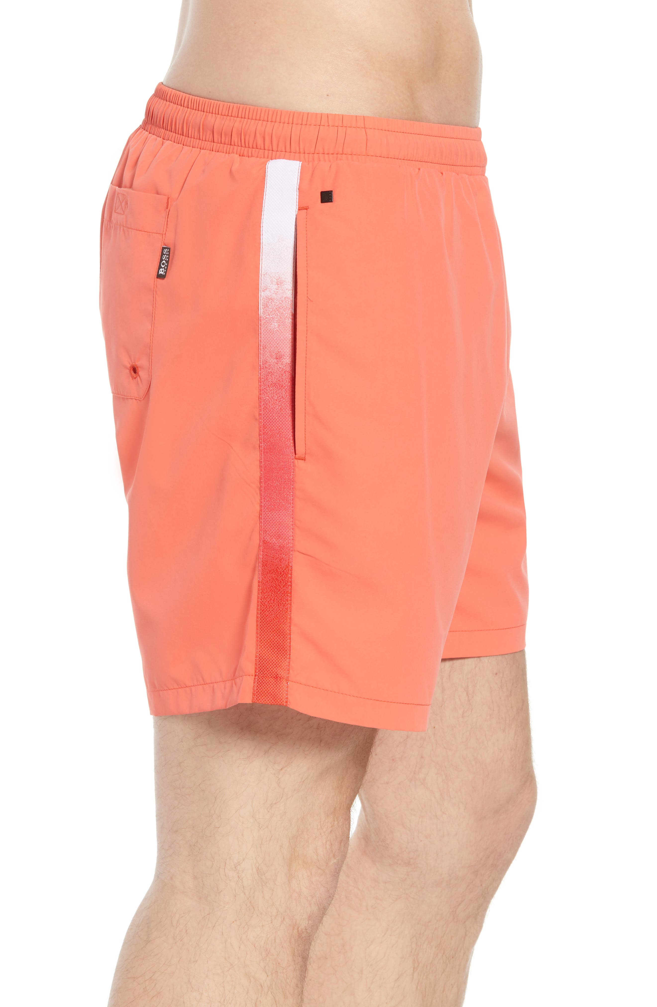 Seabream Regular Fit Stripe Swim Trunks,                             Alternate thumbnail 3, color,                             633