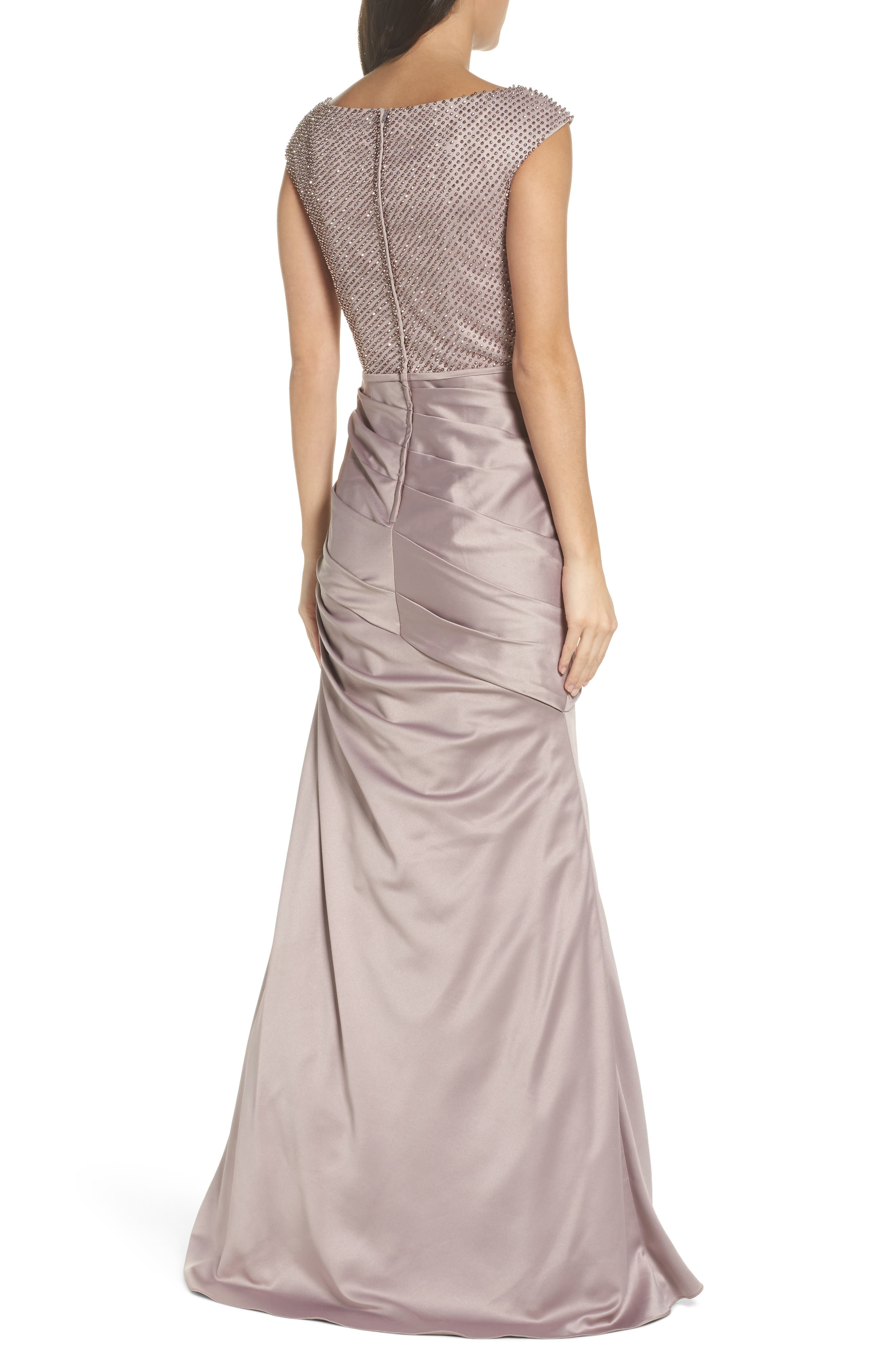 Embellished Bodice Trumpet Gown,                             Alternate thumbnail 2, color,                             CHAMPAGNE