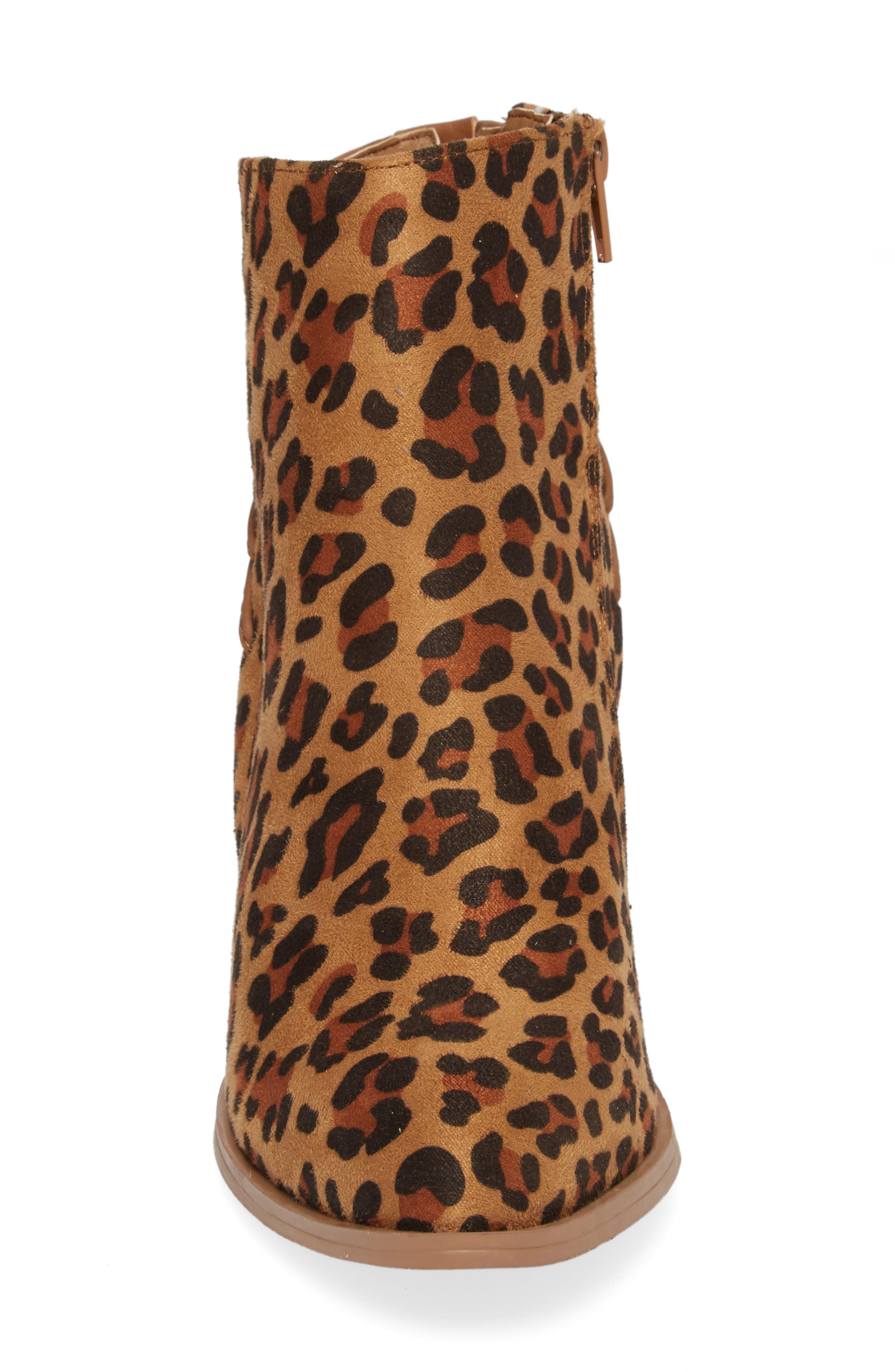 Lacey Leopard Bootie,                             Alternate thumbnail 4, color,                             243