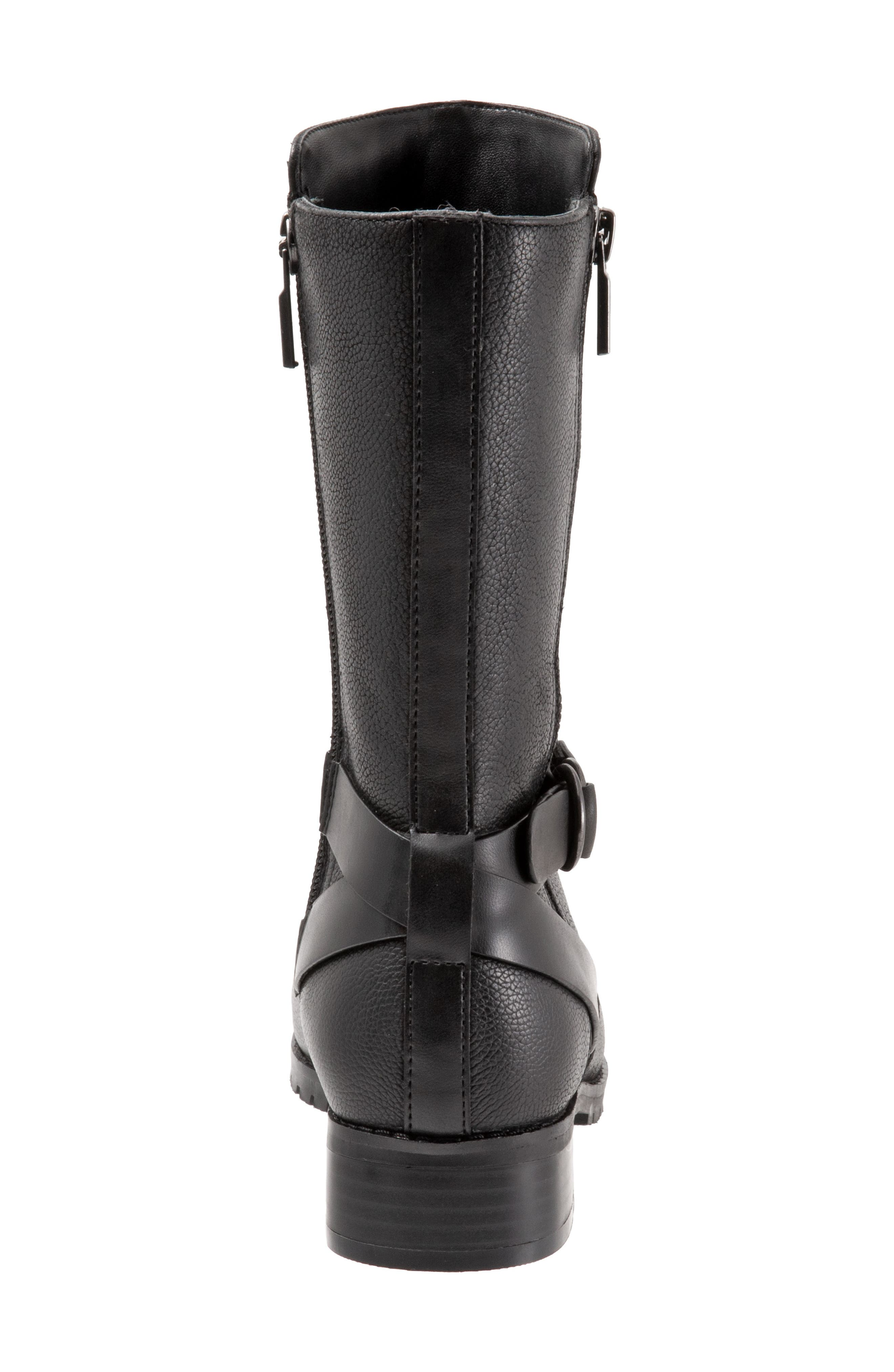 Marlowe Boot,                             Alternate thumbnail 7, color,                             BLACK LEATHER