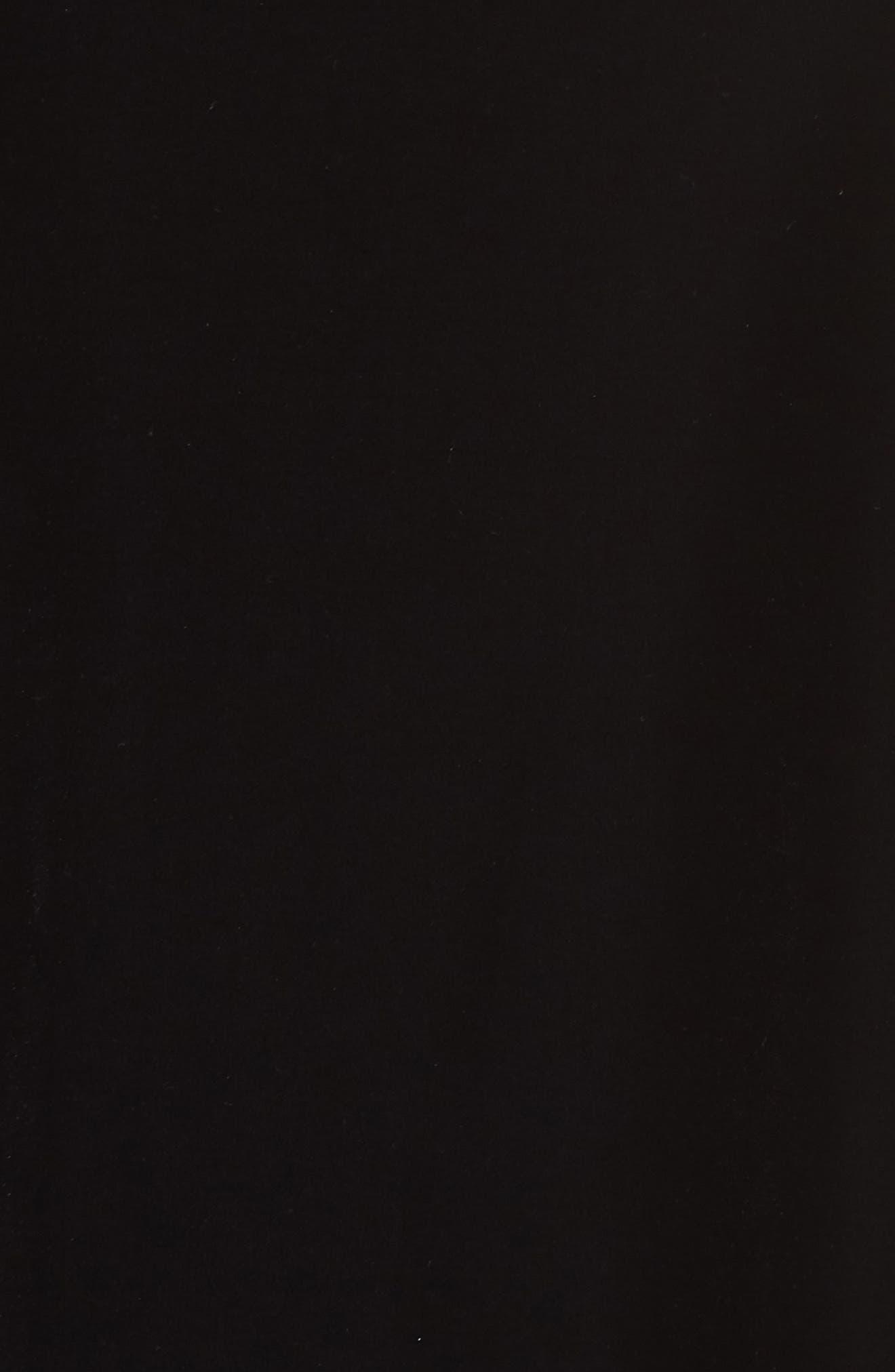Embellished Split Sleeve Velvet Tunic,                             Alternate thumbnail 5, color,                             001