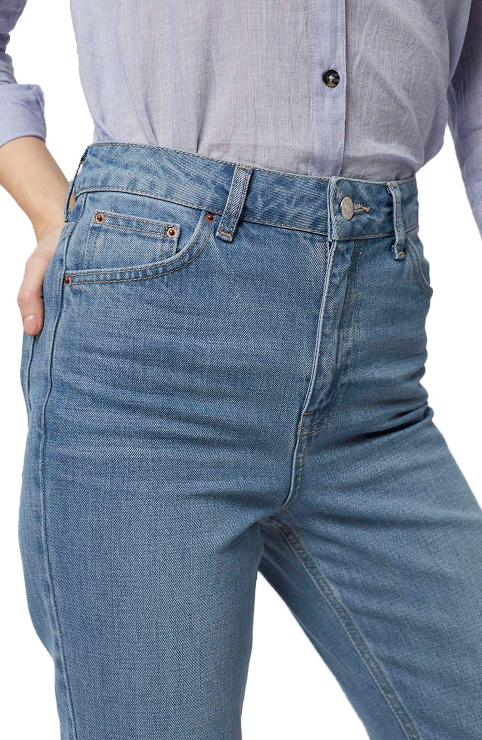 Topshop High Rise Mom Jeans Nordstrom N Bab Dress Vest Blue Denim
