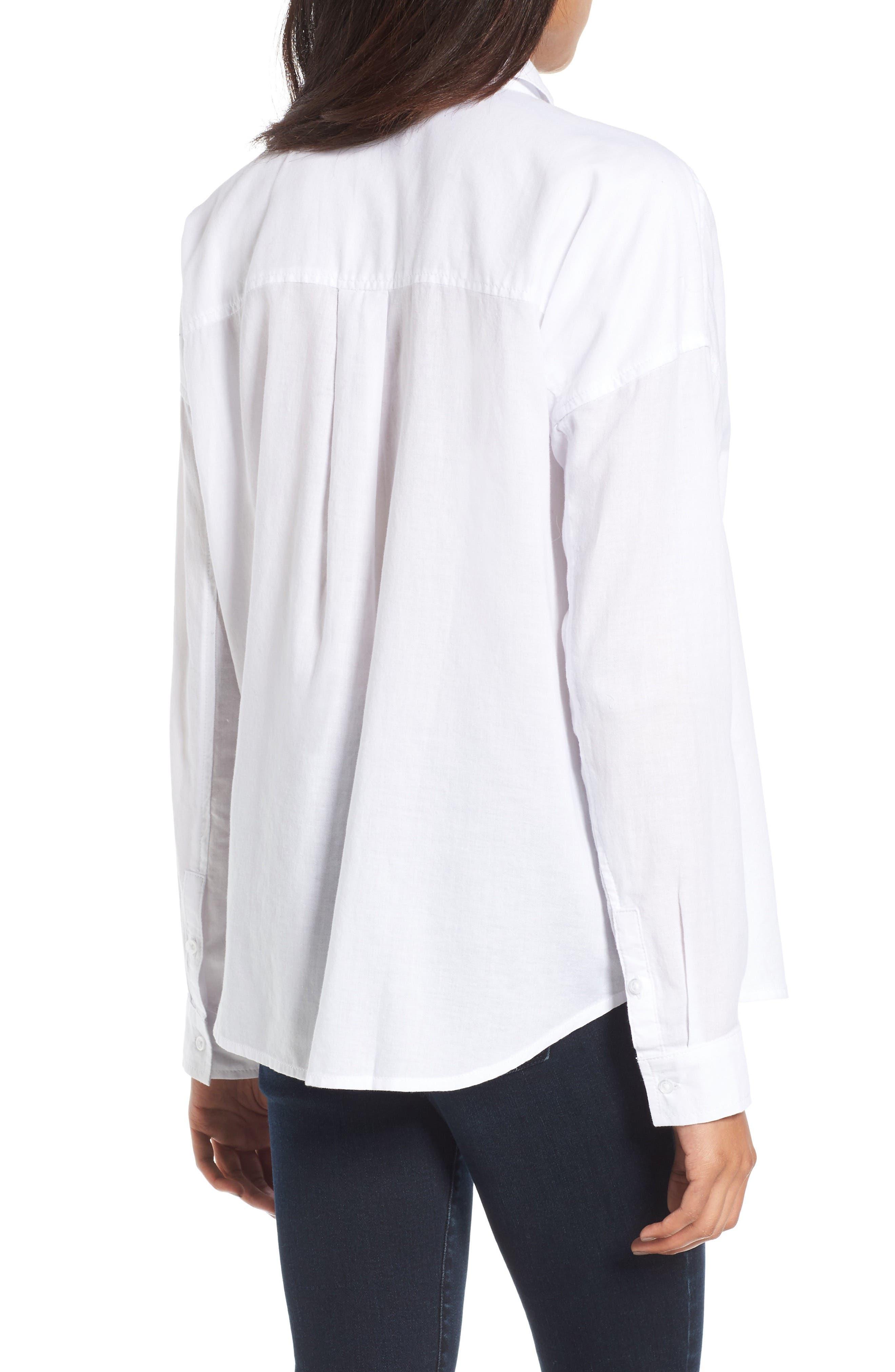 BP.,                             Cotton Shirt,                             Alternate thumbnail 2, color,                             100