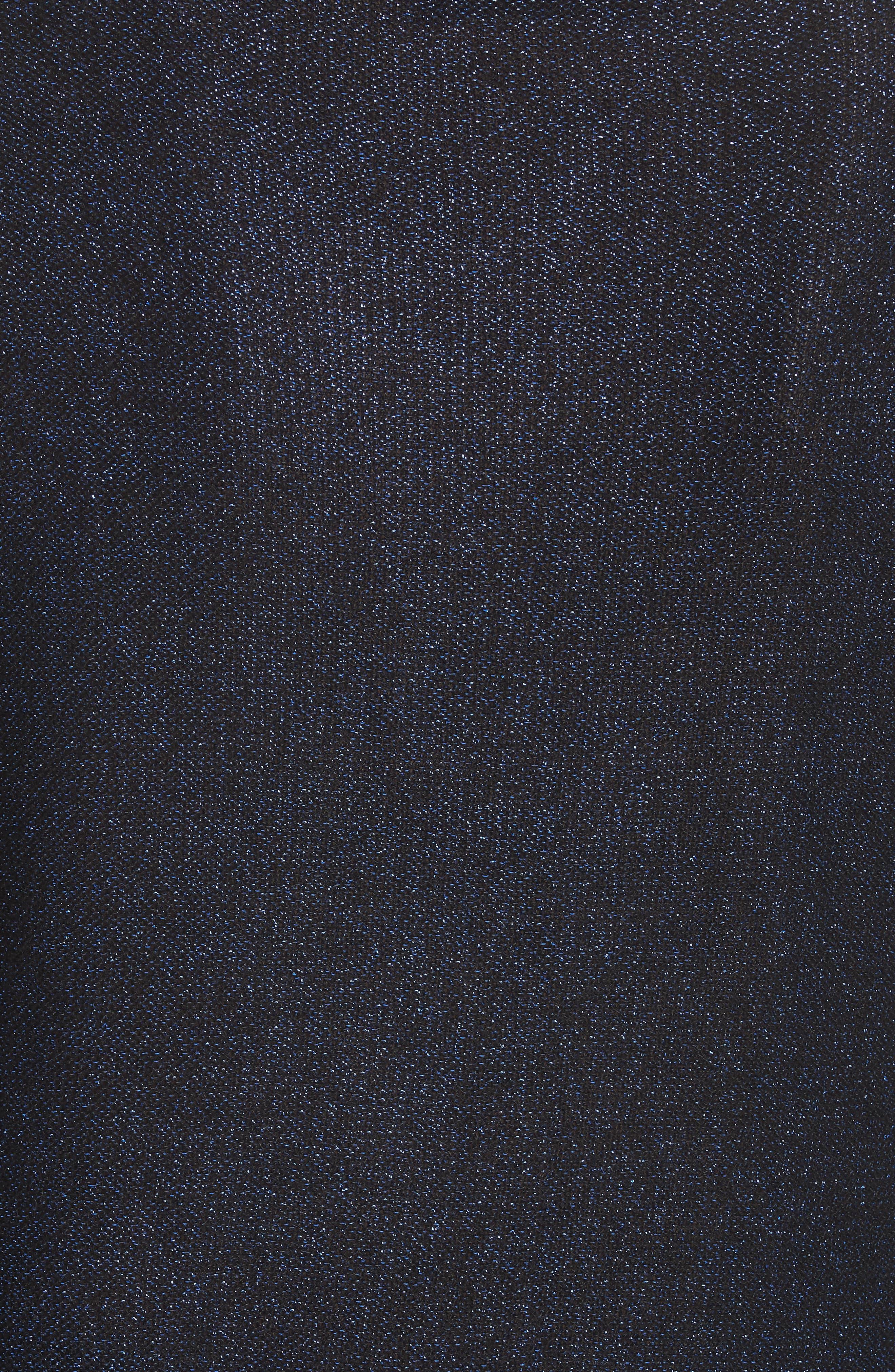 Metallic Shimmer Cotton Blend Sweater,                             Alternate thumbnail 5, color,                             COBALT