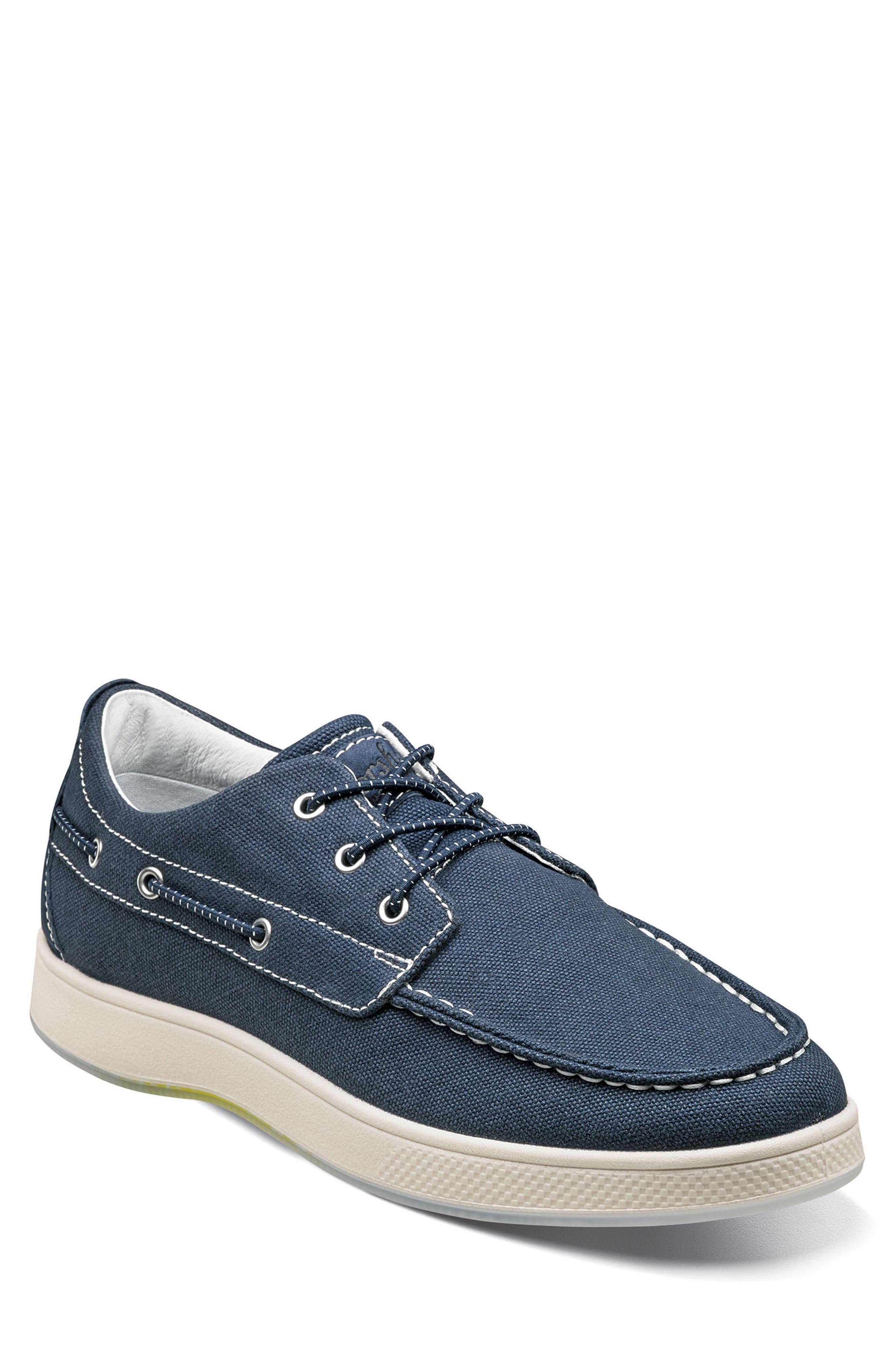 Edge Boat Shoe,                         Main,                         color, NAVY CANVAS