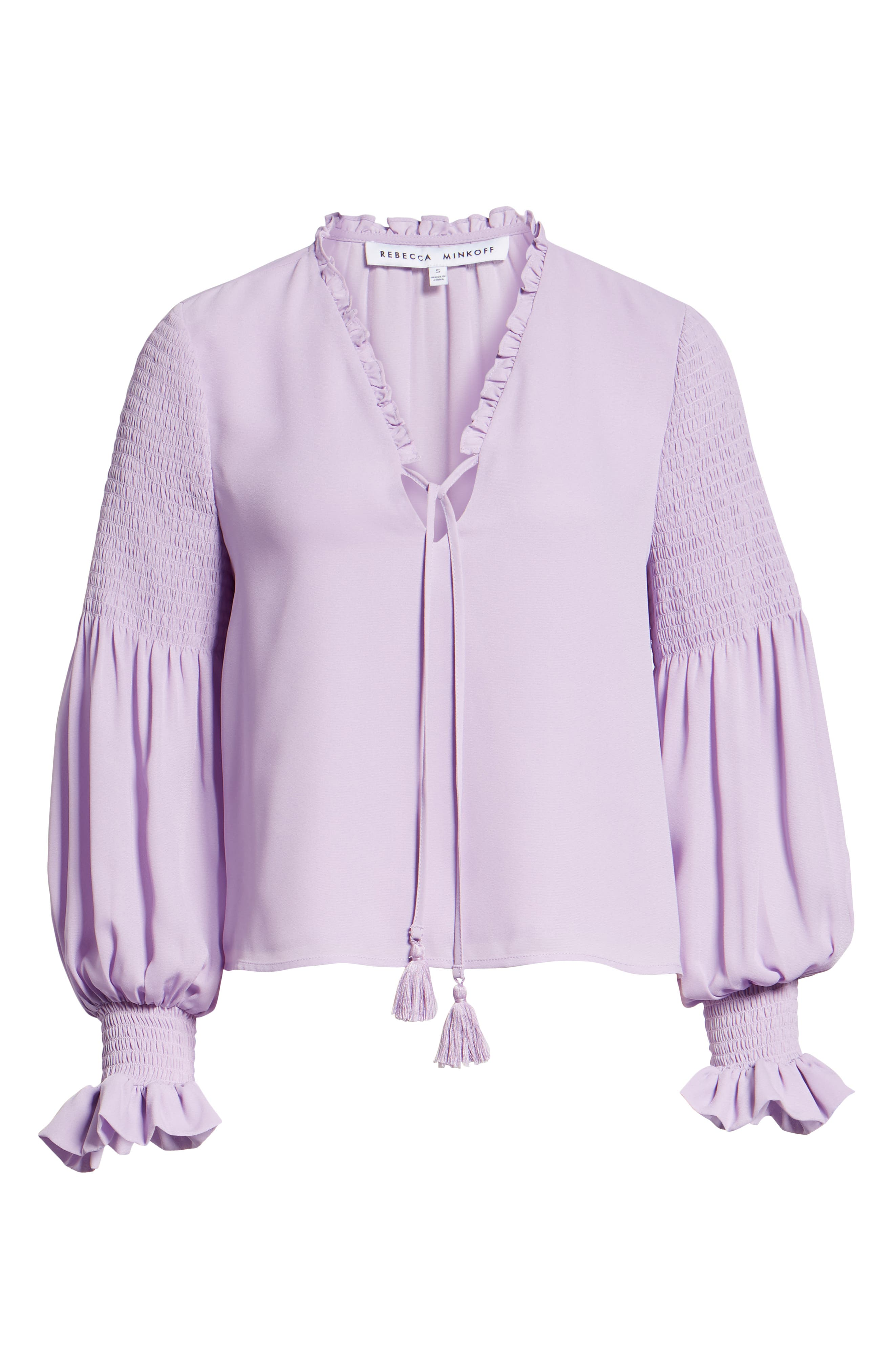 Penelope Ruffle Top,                             Alternate thumbnail 6, color,                             LILAC