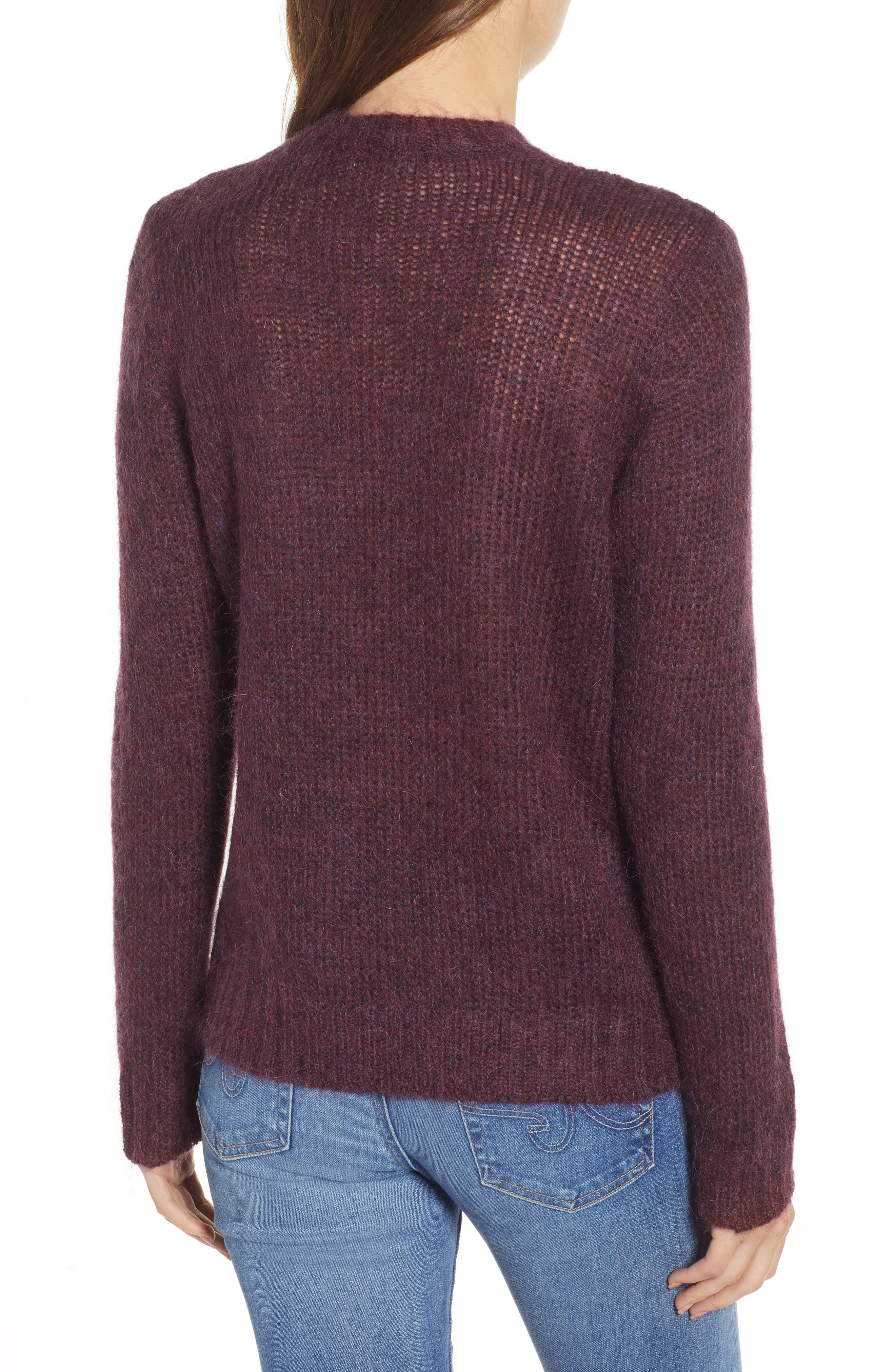 Ansley Crewneck Sweater,                             Alternate thumbnail 2, color,                             RICH CARMINE