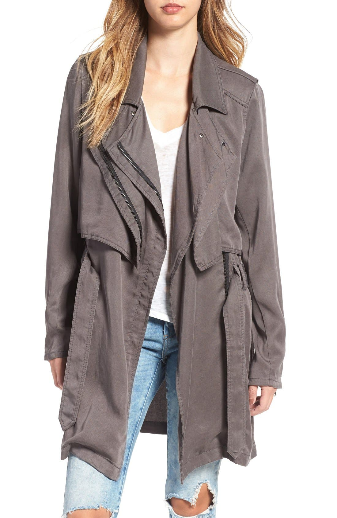 Drapey Trench Coat,                             Main thumbnail 1, color,                             300