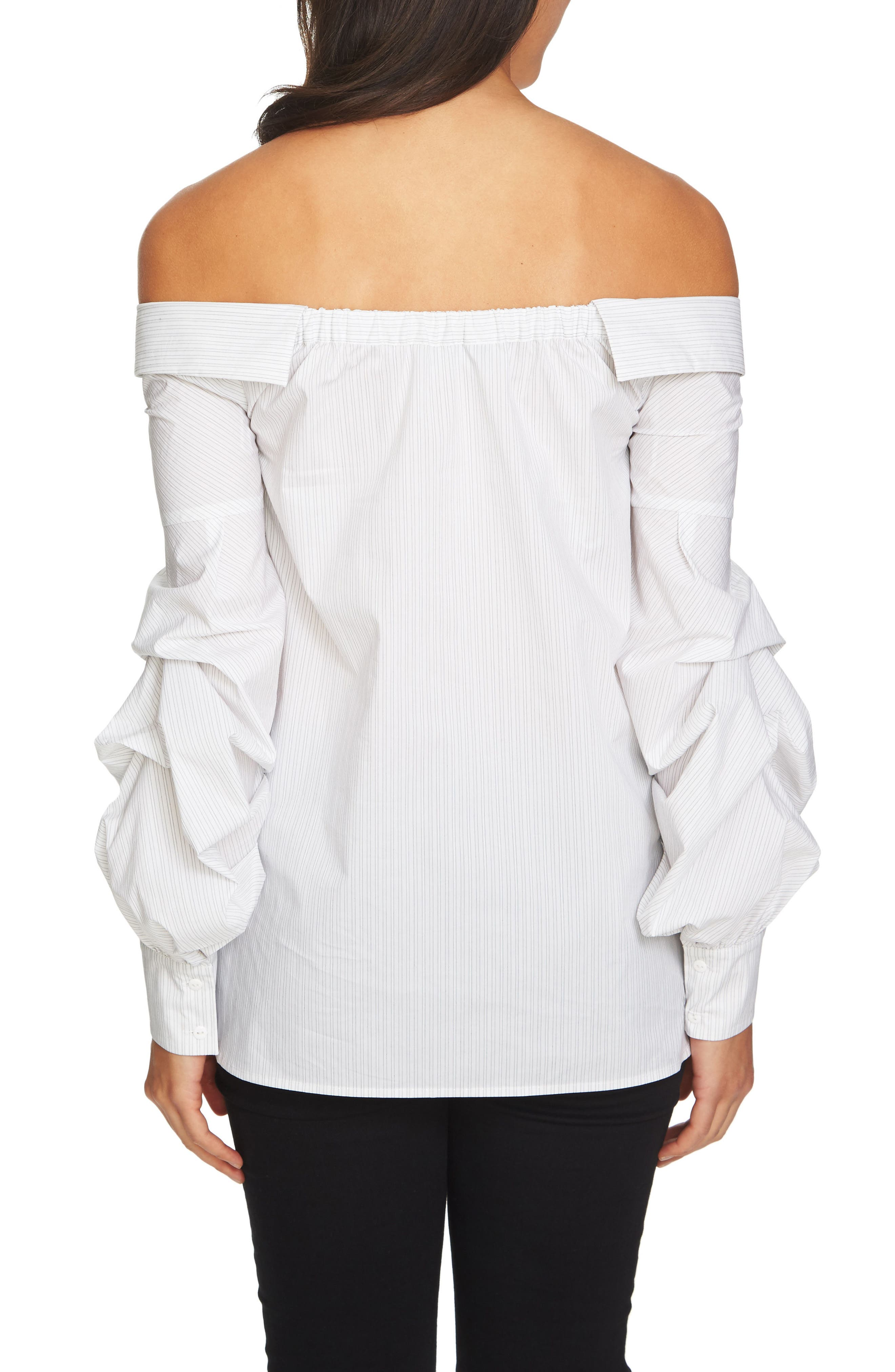Off the Shoulder Blouse,                             Alternate thumbnail 2, color,