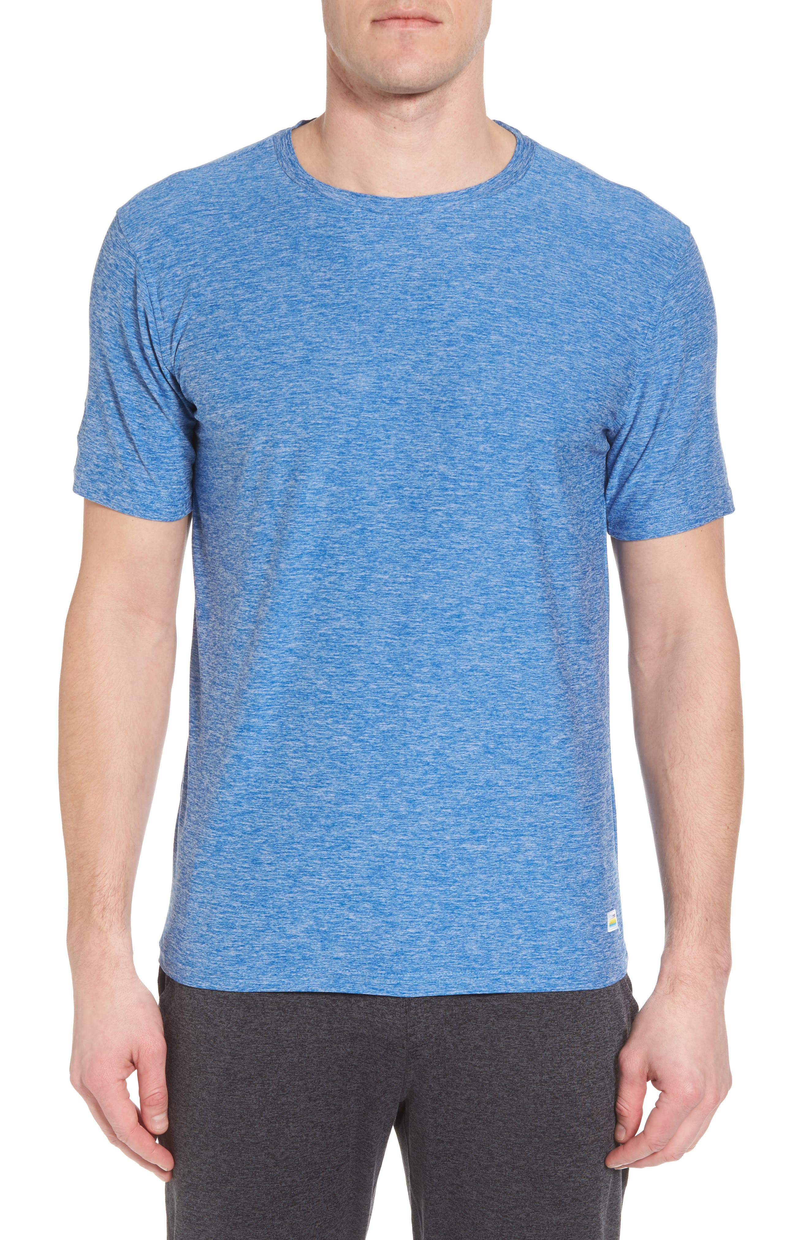 Vuori Strato Slim Fit Crewneck T-Shirt, Blue