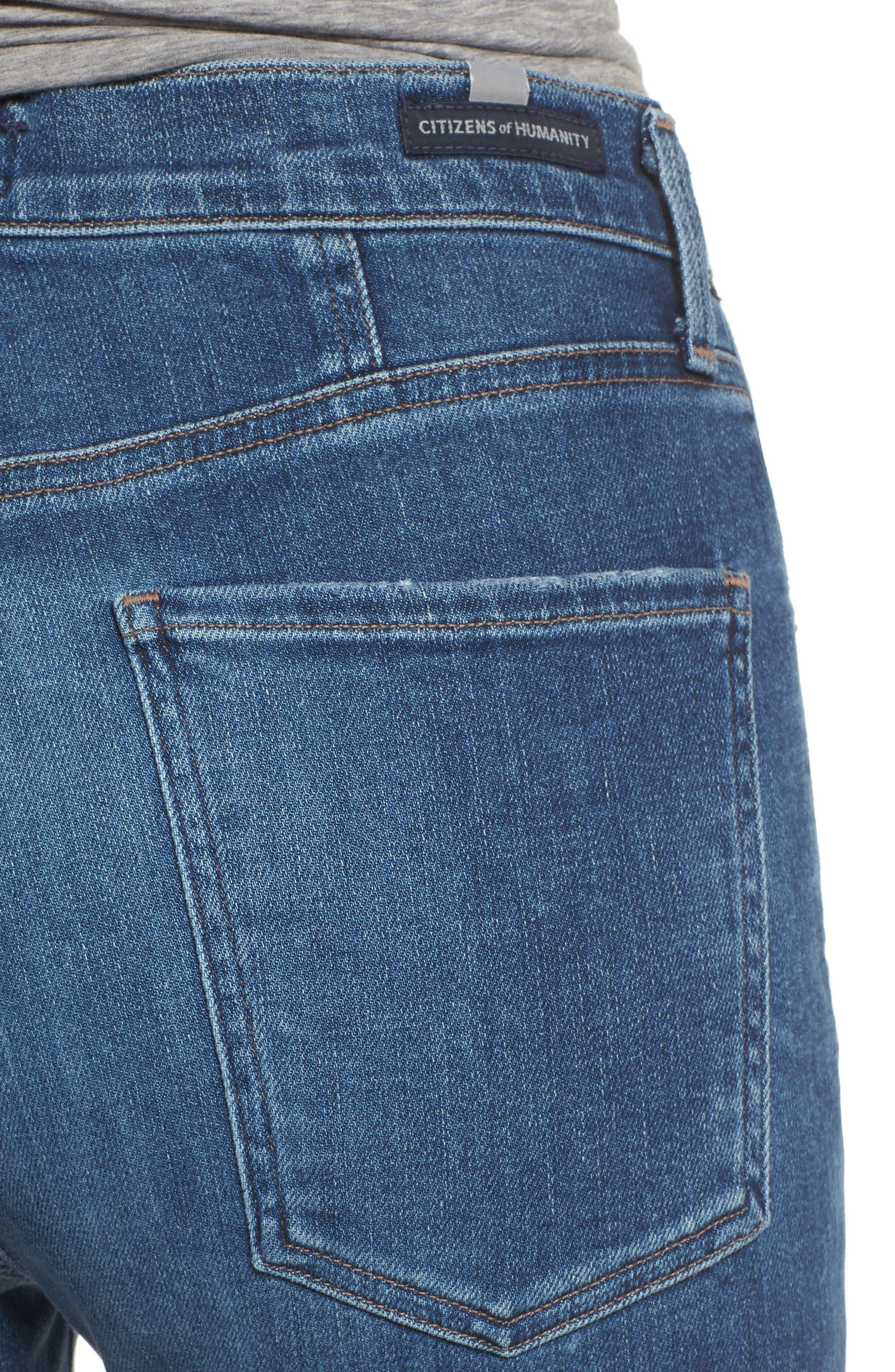Chrissy High Waist Skinny Jeans,                             Alternate thumbnail 4, color,                             455