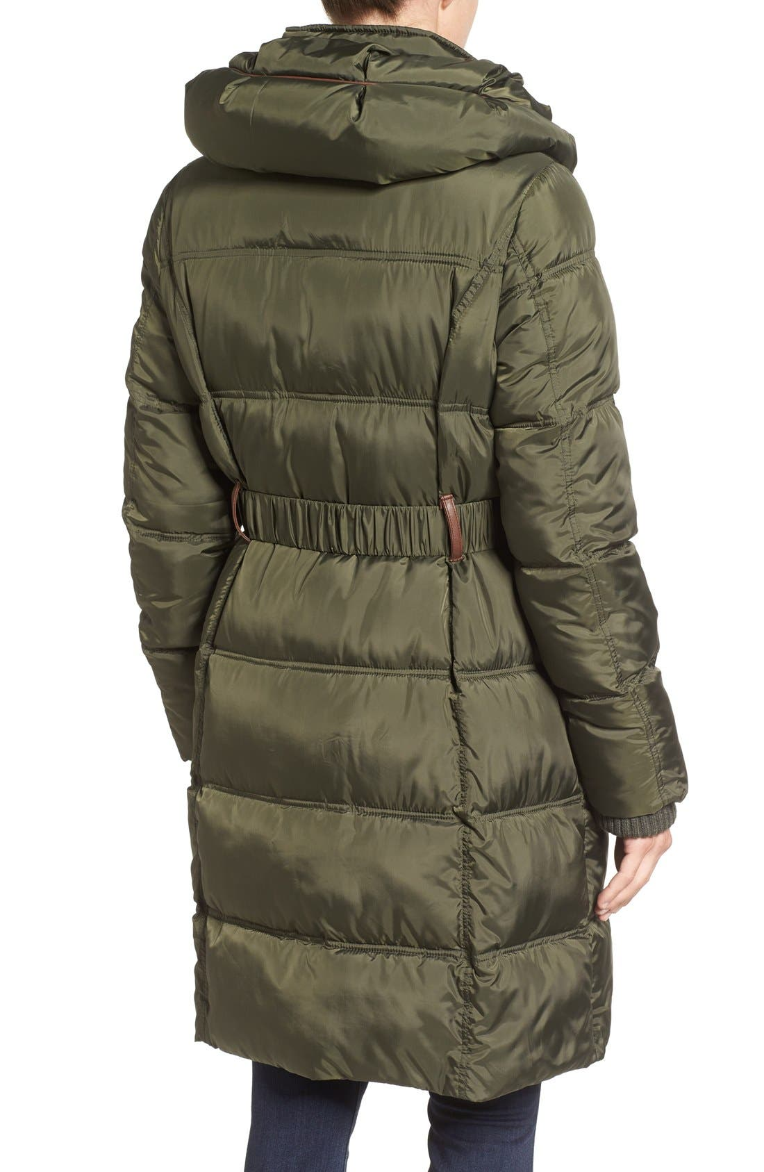 Quilted Down & Feather Fill Coat,                             Alternate thumbnail 7, color,
