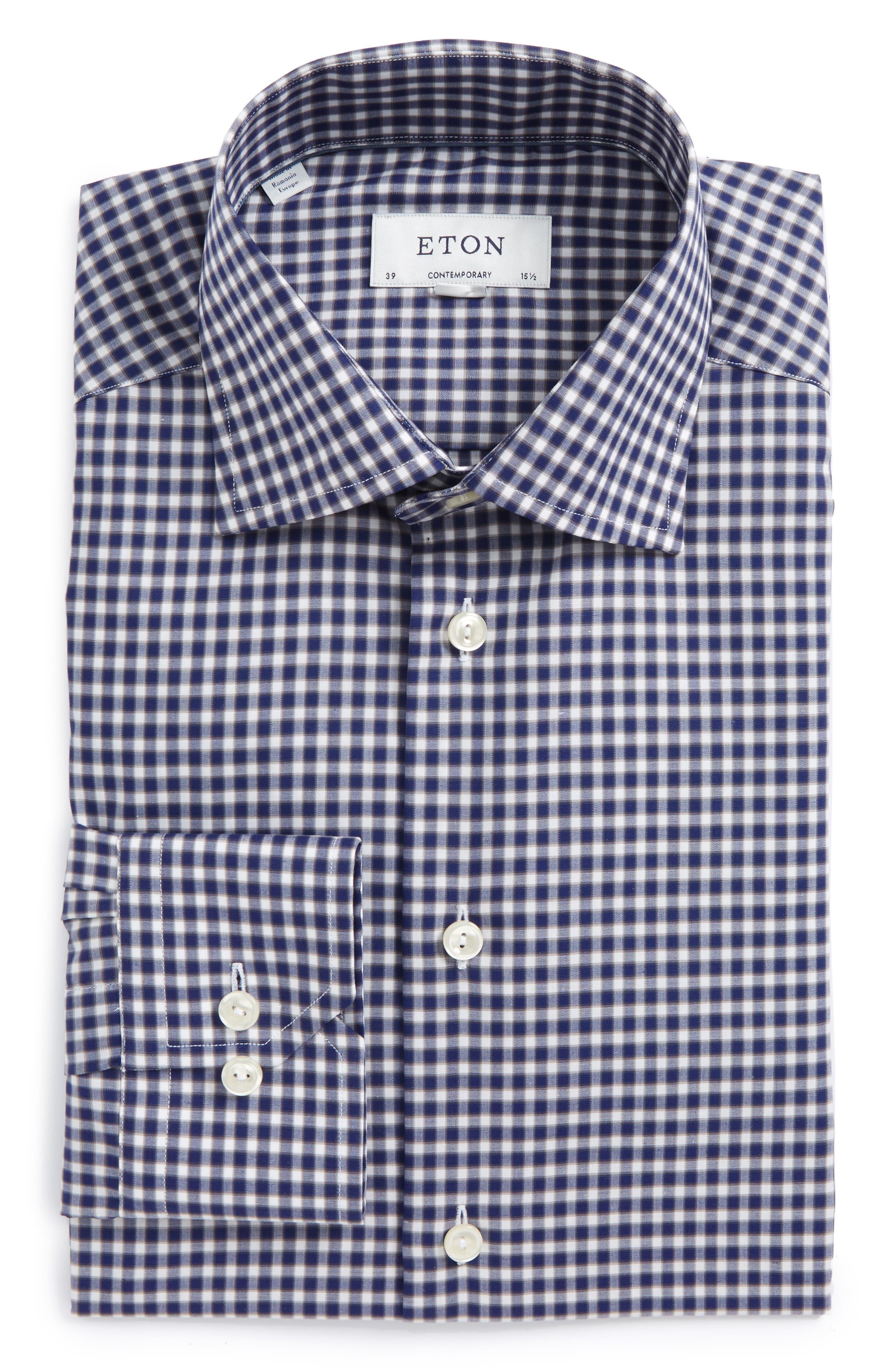 Contemporary Fit Check Dress Shirt,                             Main thumbnail 2, color,