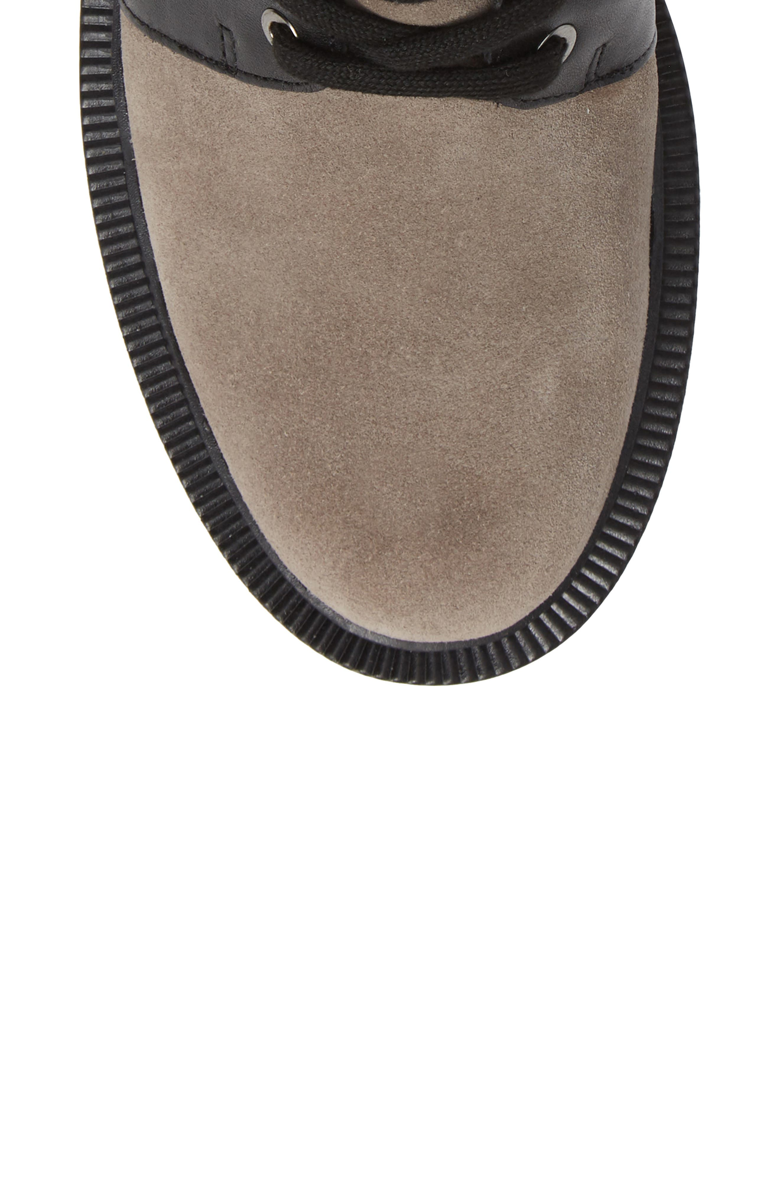 Moto Boot,                             Alternate thumbnail 5, color,                             WINTER GREY SUEDE