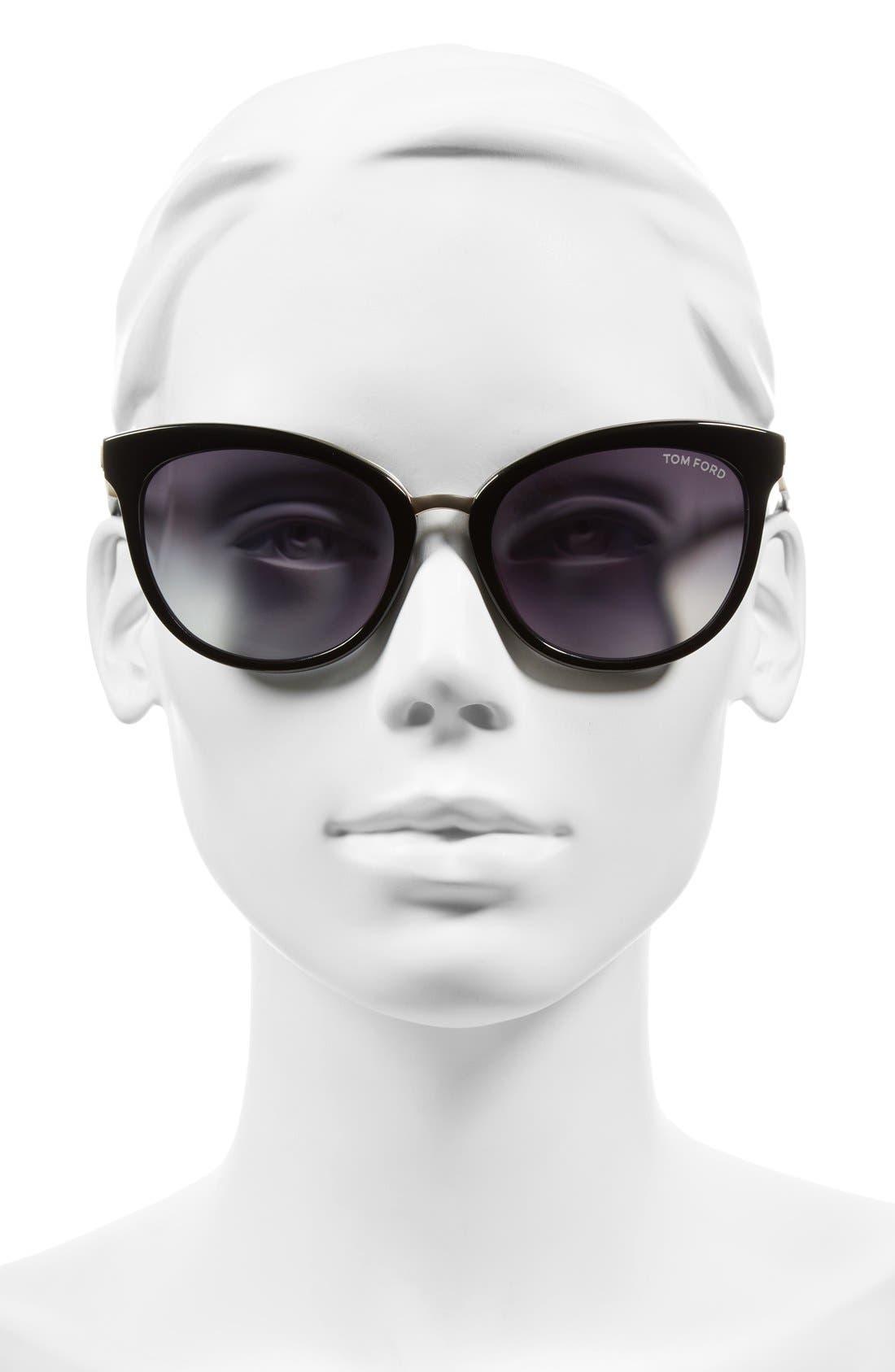 'Emma' 56mm Retro Sunglasses,                             Alternate thumbnail 2, color,                             002