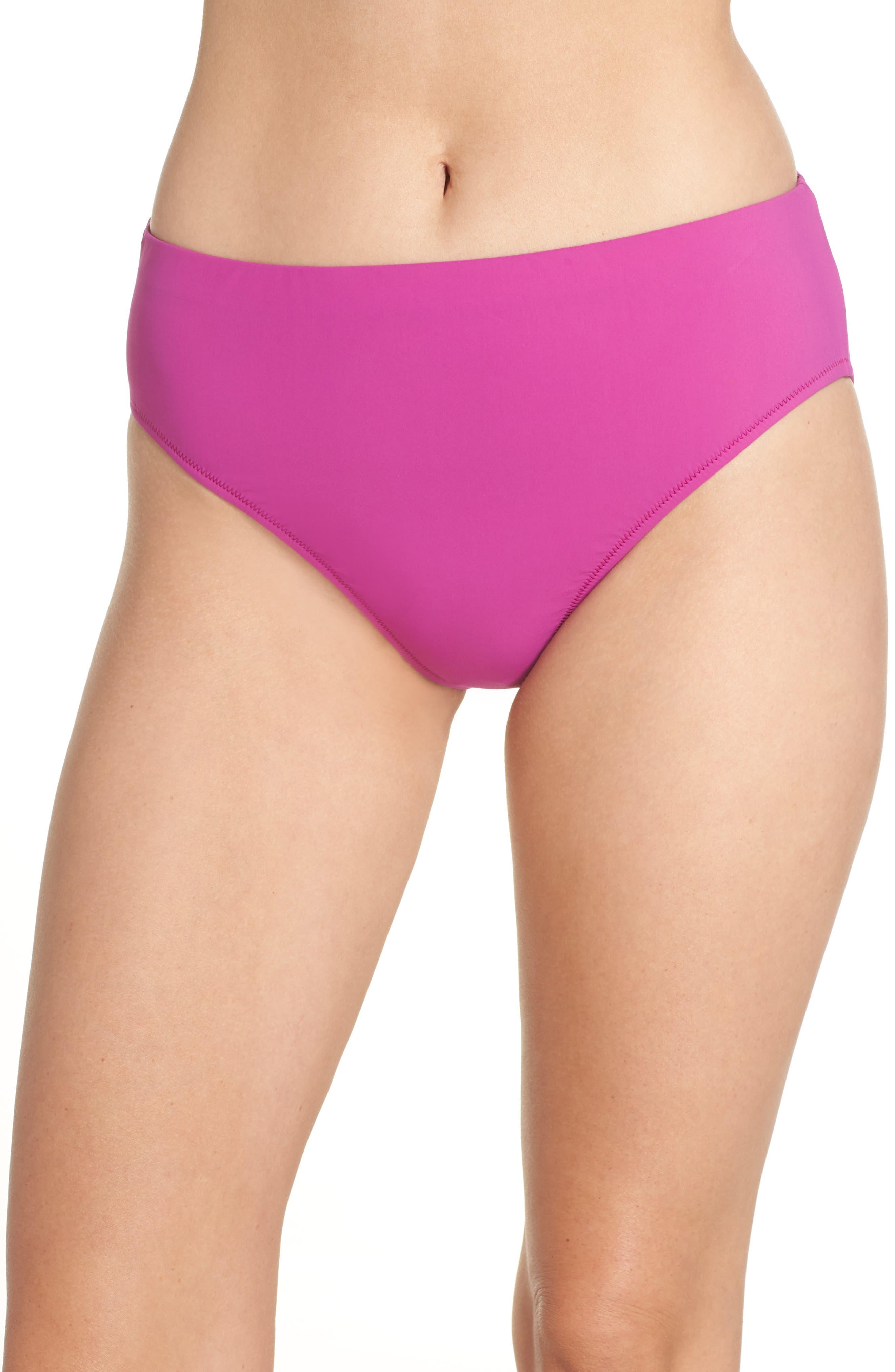 Bikini Bottoms,                         Main,                         color, WARM VIOLA