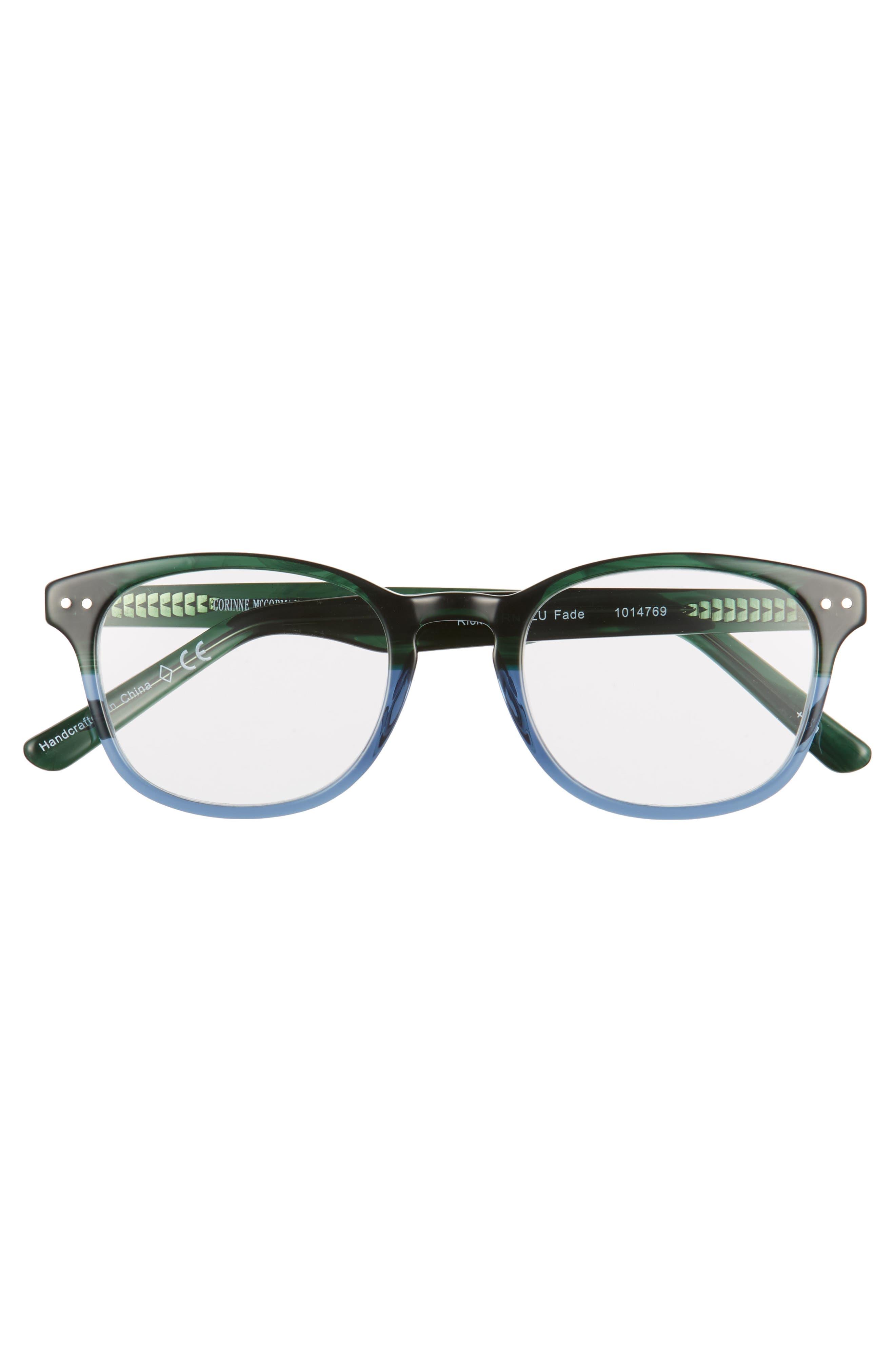 Ricki 49mm Reading Glasses,                             Alternate thumbnail 3, color,                             GREEN