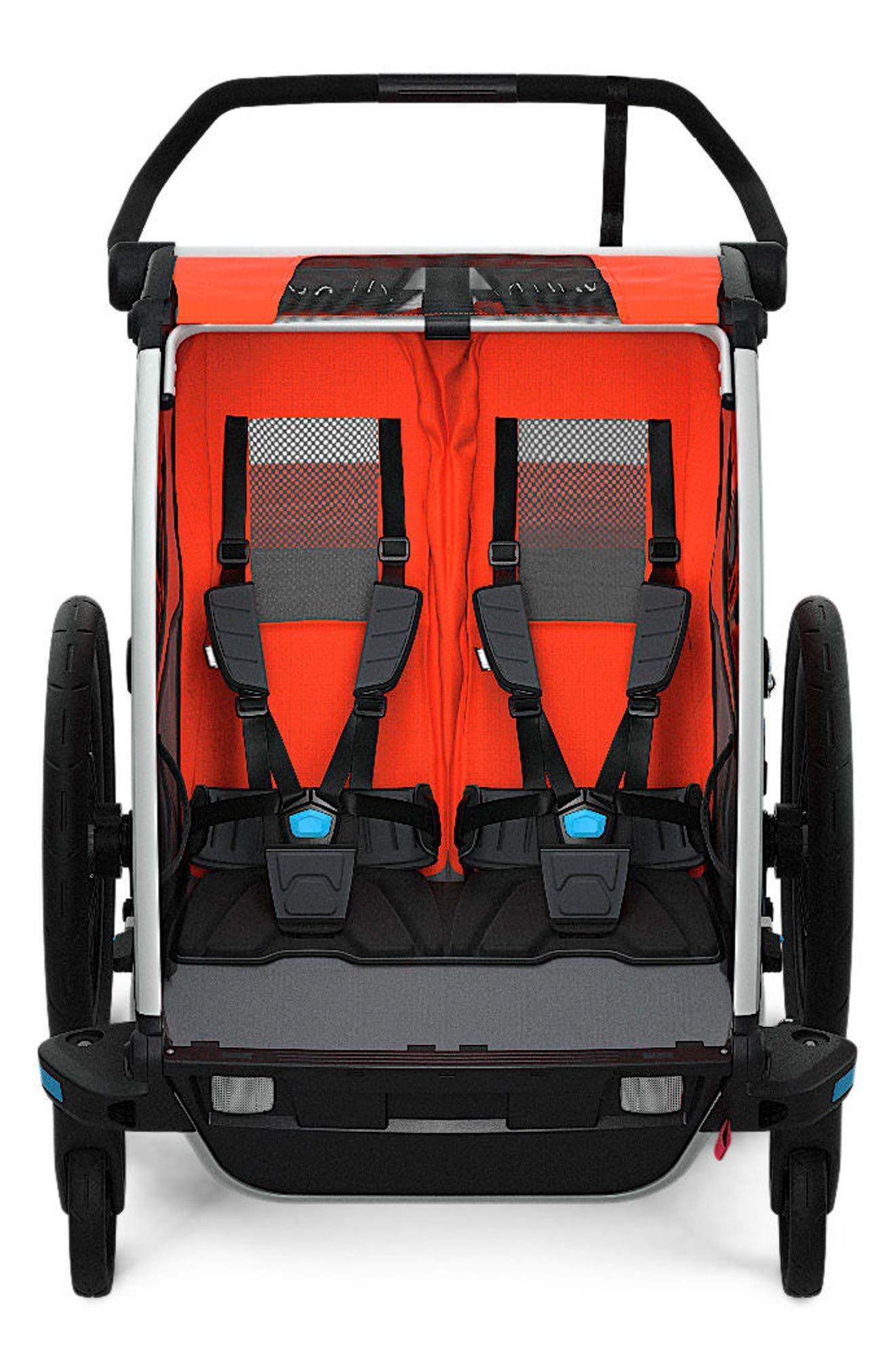 Chariot Cross 2 Multisport Double Cycle Trailer/Stroller,                         Main,                         color, ROARANGE