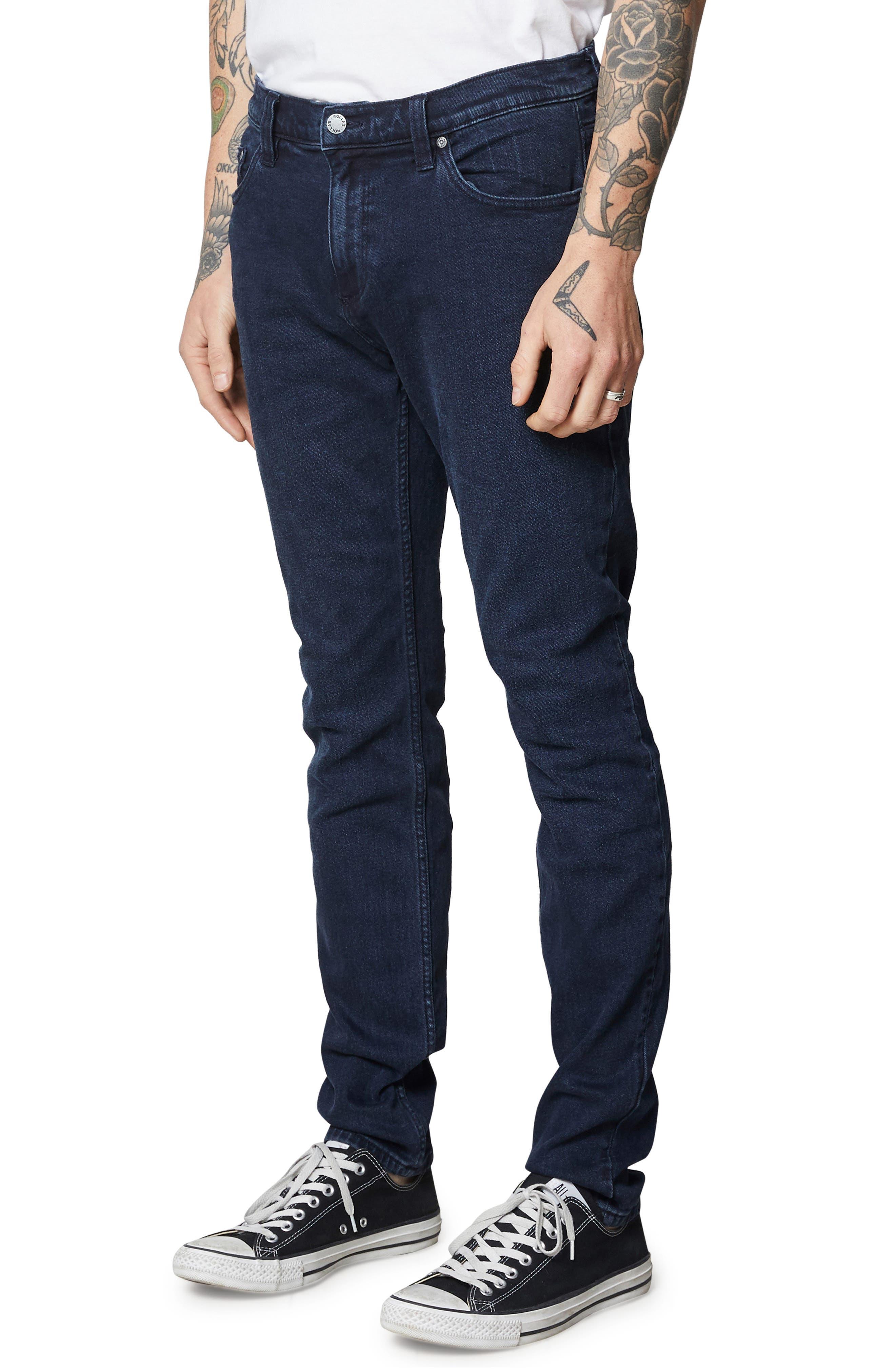 Stinger Skinny Fit Jeans,                             Alternate thumbnail 3, color,                             STONE FREE BLACK