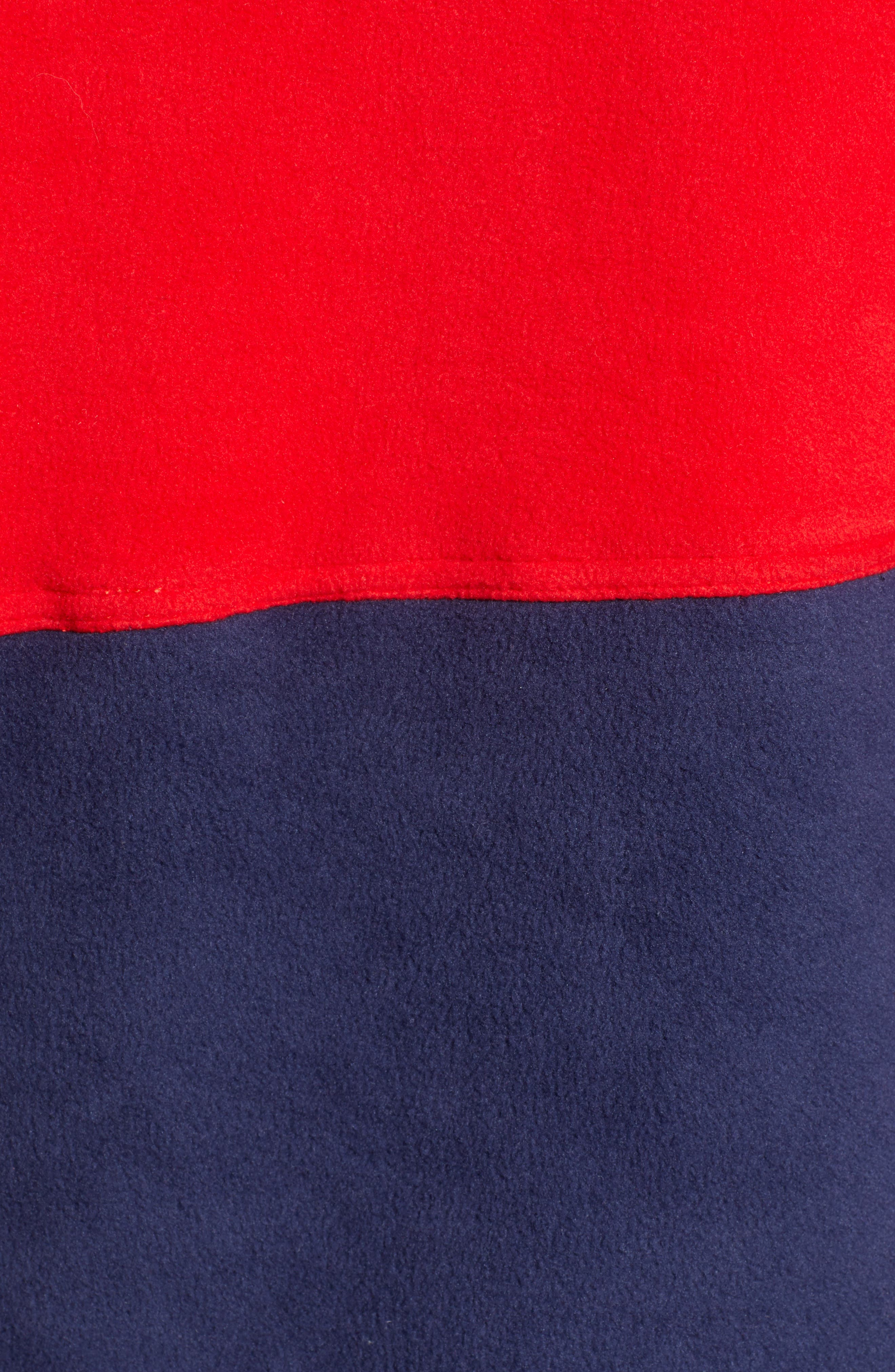 Honnold Colorblock Fleece Pullover Hoodie,                             Alternate thumbnail 6, color,                             MARS RED