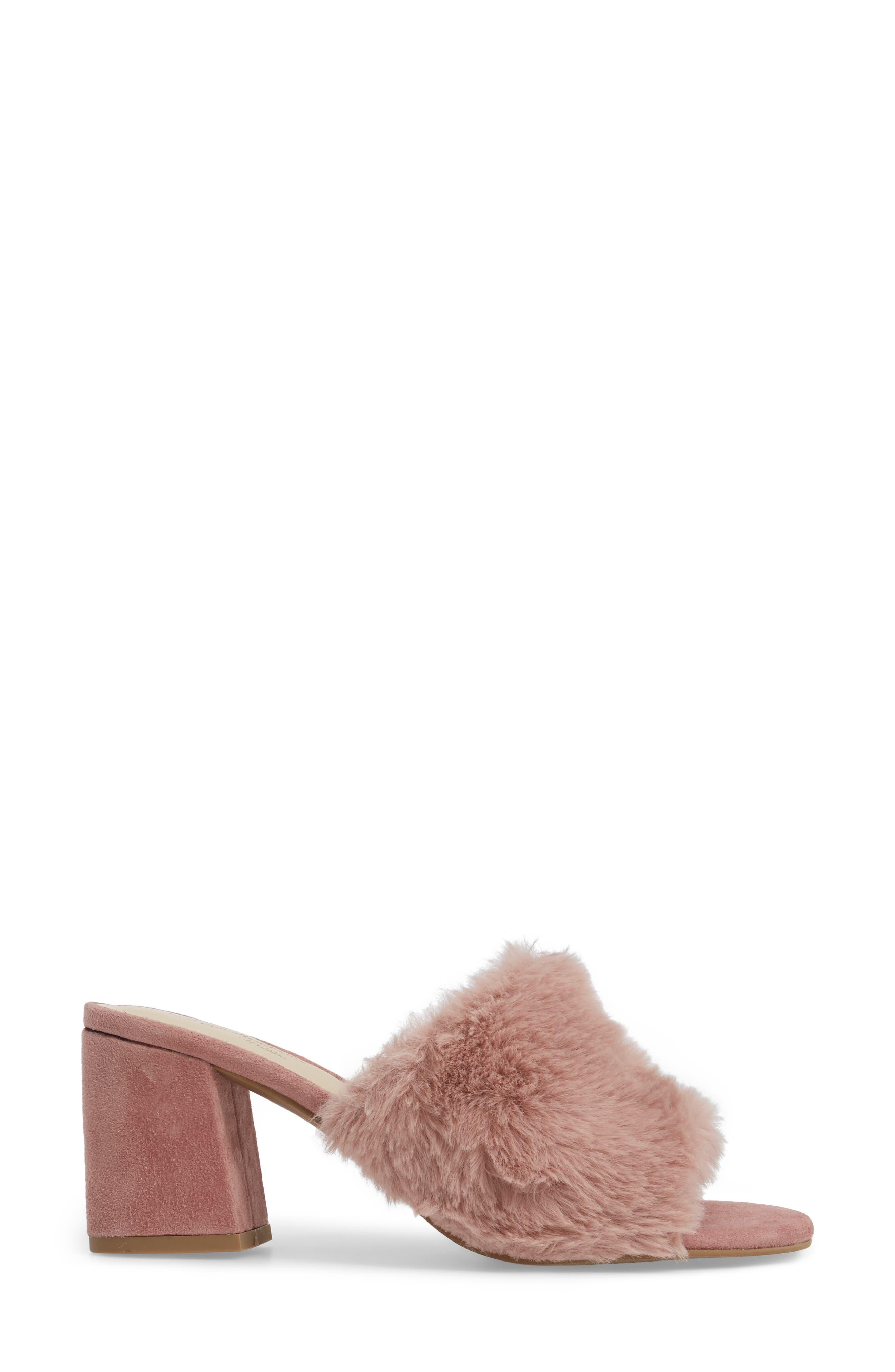 Nobody Else Faux Fur Slide Sandal,                             Alternate thumbnail 6, color,