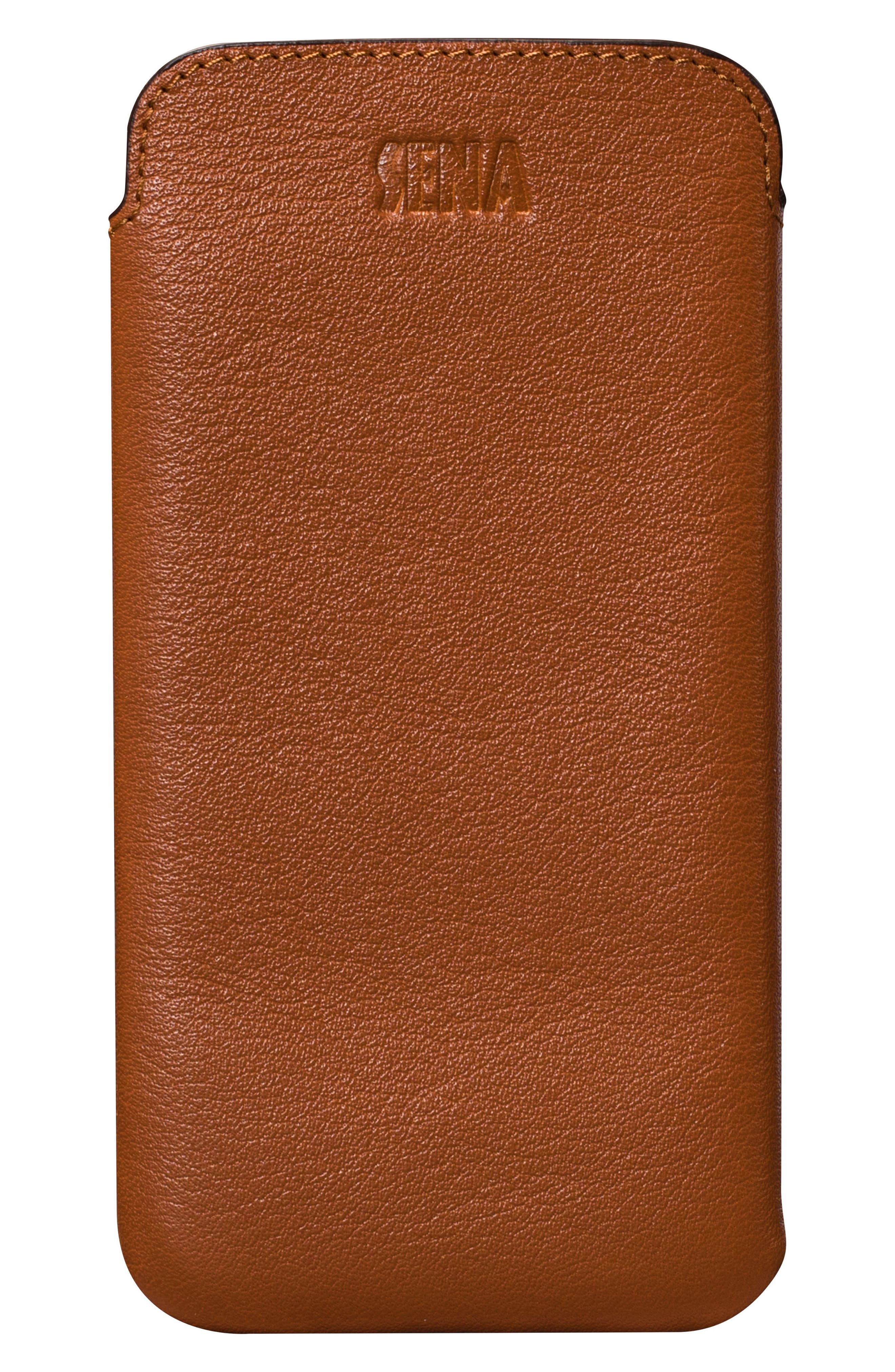 Ultraslim iPhone X & Xs Leather Sleeve,                         Main,                         color, TAN