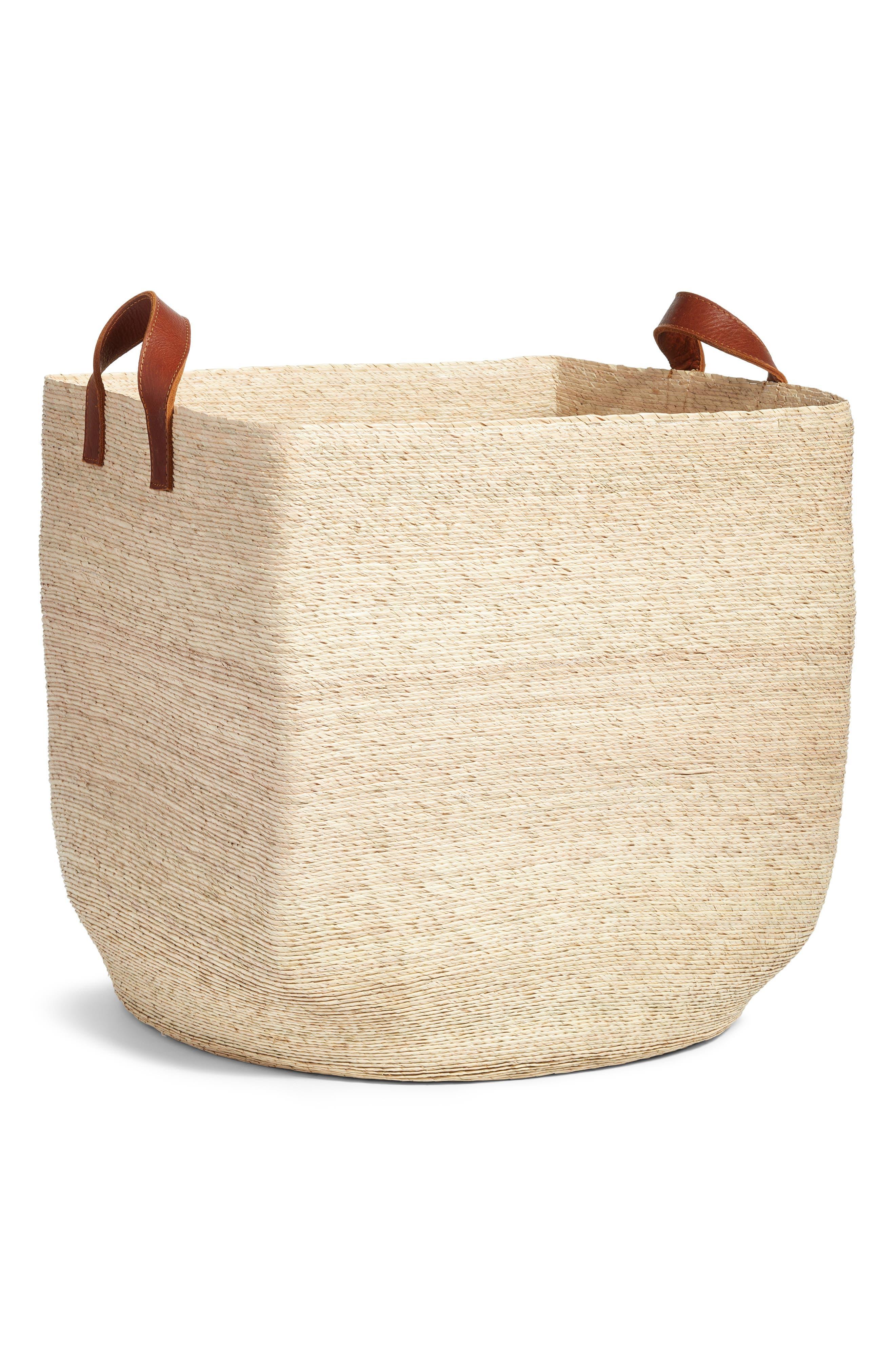 Large Mercado Storage Basket,                         Main,                         color, NATURAL