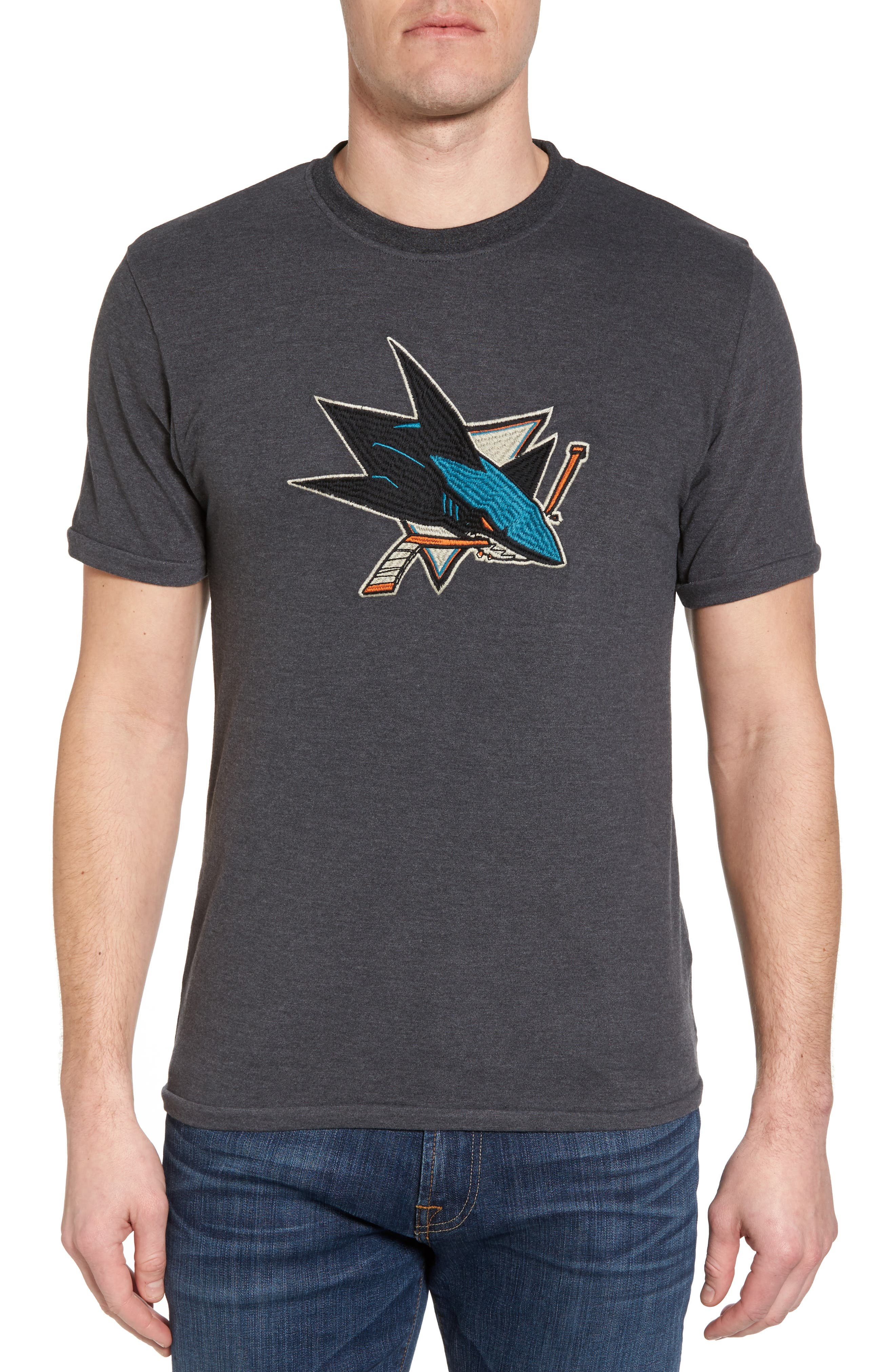 Hillwood San José Sharks Embroidered T-Shirt,                             Main thumbnail 1, color,