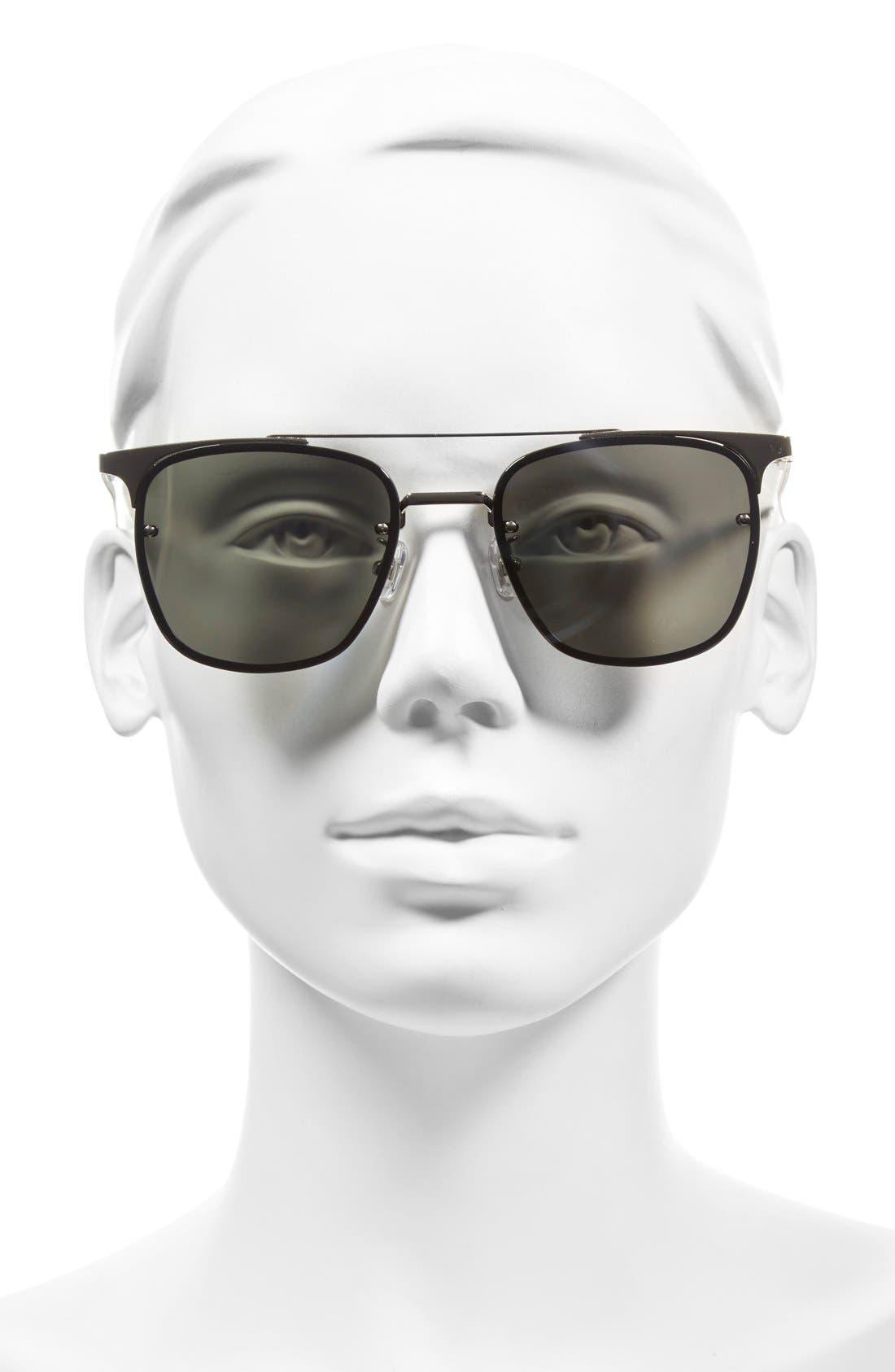 GENTLE MONSTER,                             'Fame' 55mm Retro Sunglasses,                             Alternate thumbnail 3, color,                             040