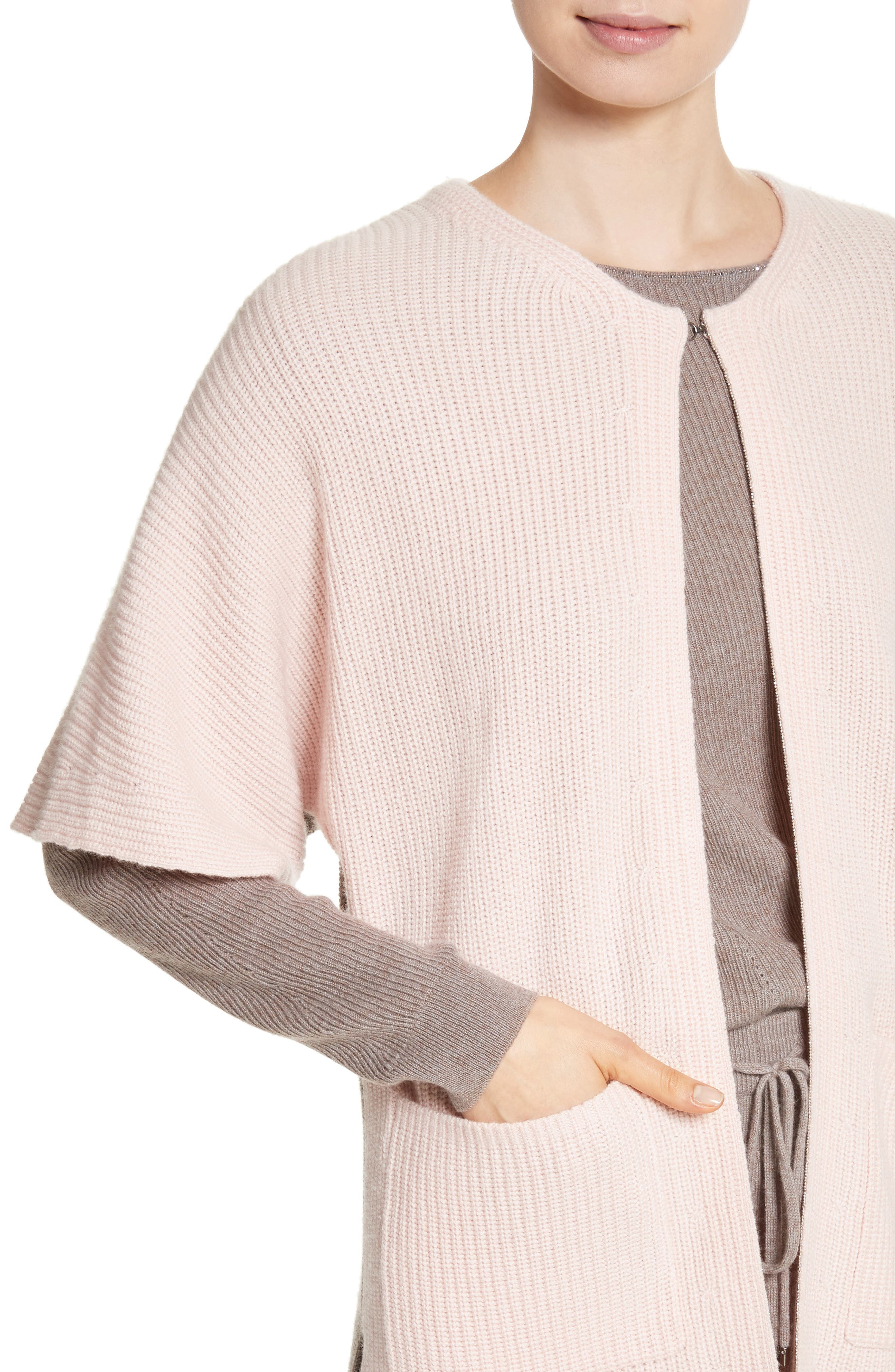 Patch Pocket Cashmere Cardigan,                             Alternate thumbnail 4, color,                             680