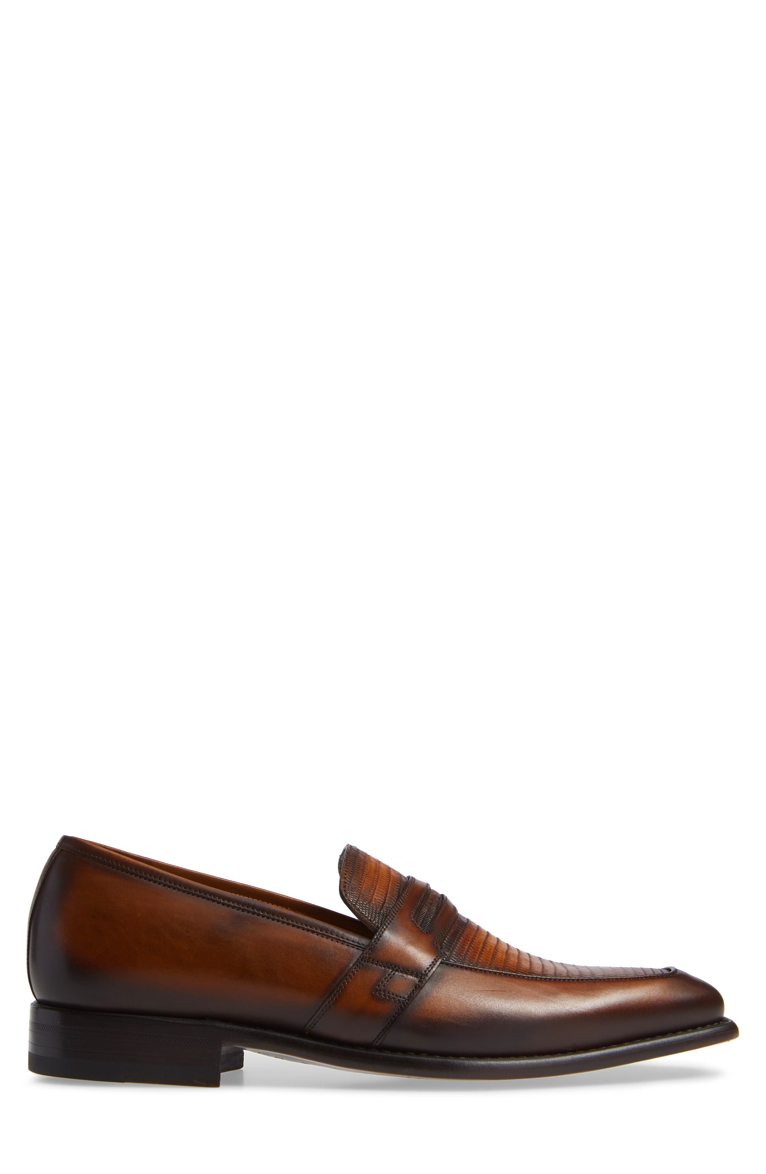 Hess Penny Loafer,                             Alternate thumbnail 3, color,                             HONEY LEATHER