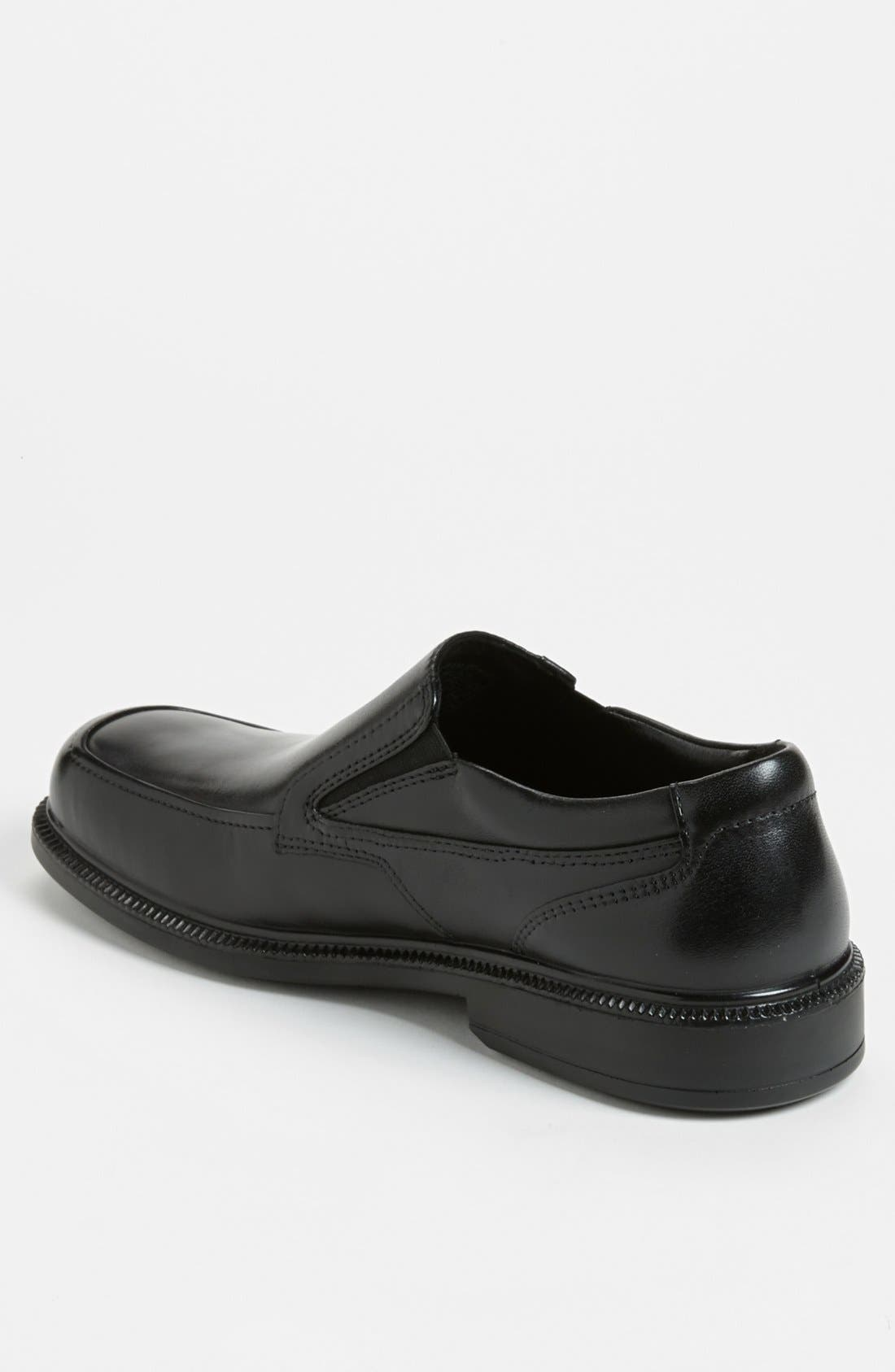 HUSH PUPPIES<SUP>®</SUP>,                             'Leverage' Waterproof Slip-On,                             Alternate thumbnail 4, color,                             001
