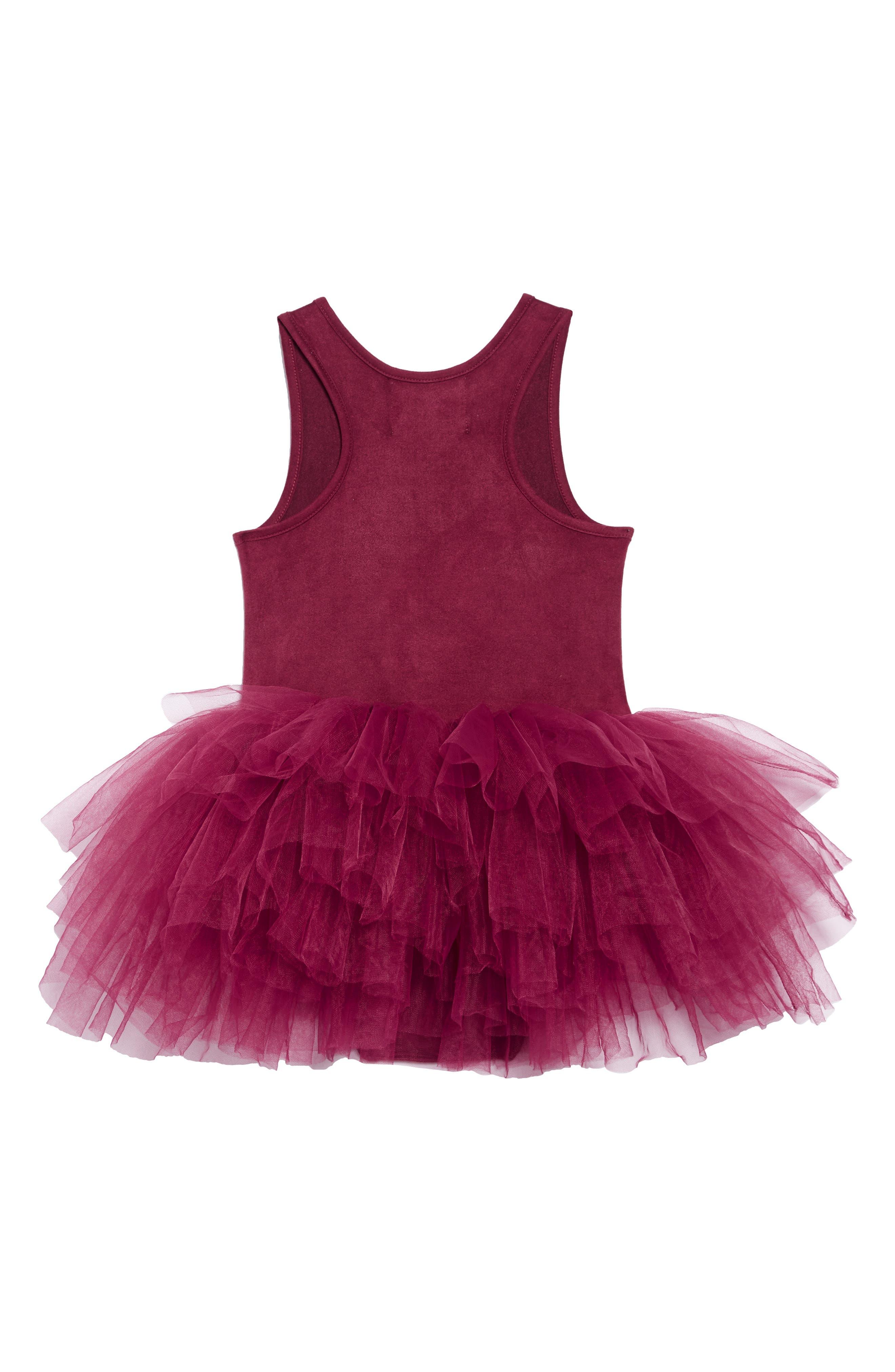 Tutu Dress,                             Alternate thumbnail 2, color,                             MAROON