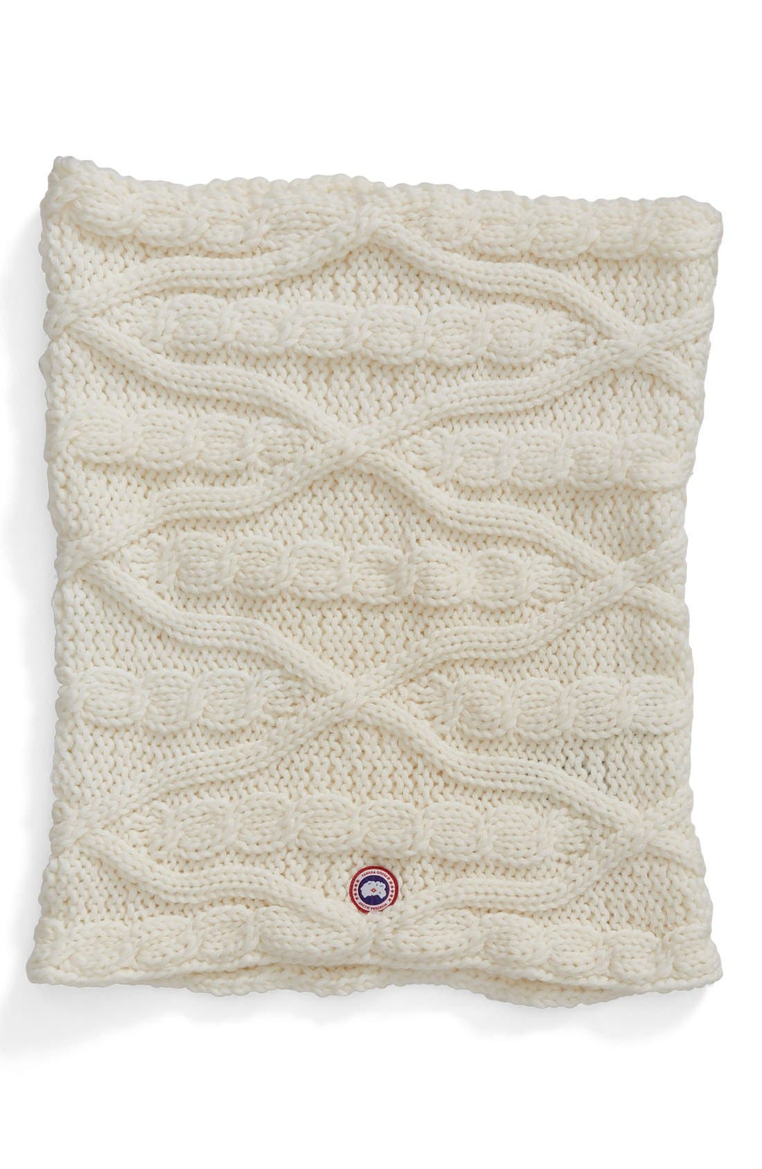 Chunky Cable Wool Snood,                             Alternate thumbnail 6, color,