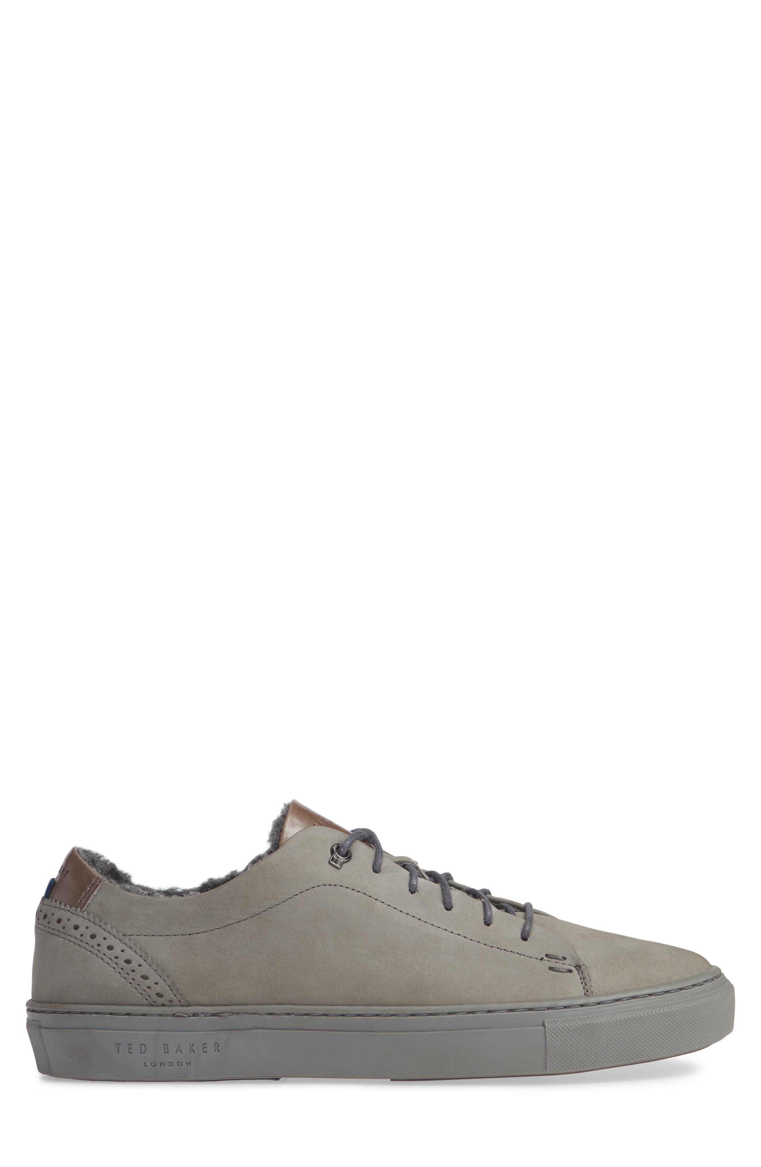 Dahvid Nubuck Sneaker,                             Alternate thumbnail 3, color,                             GREY NUBUCK
