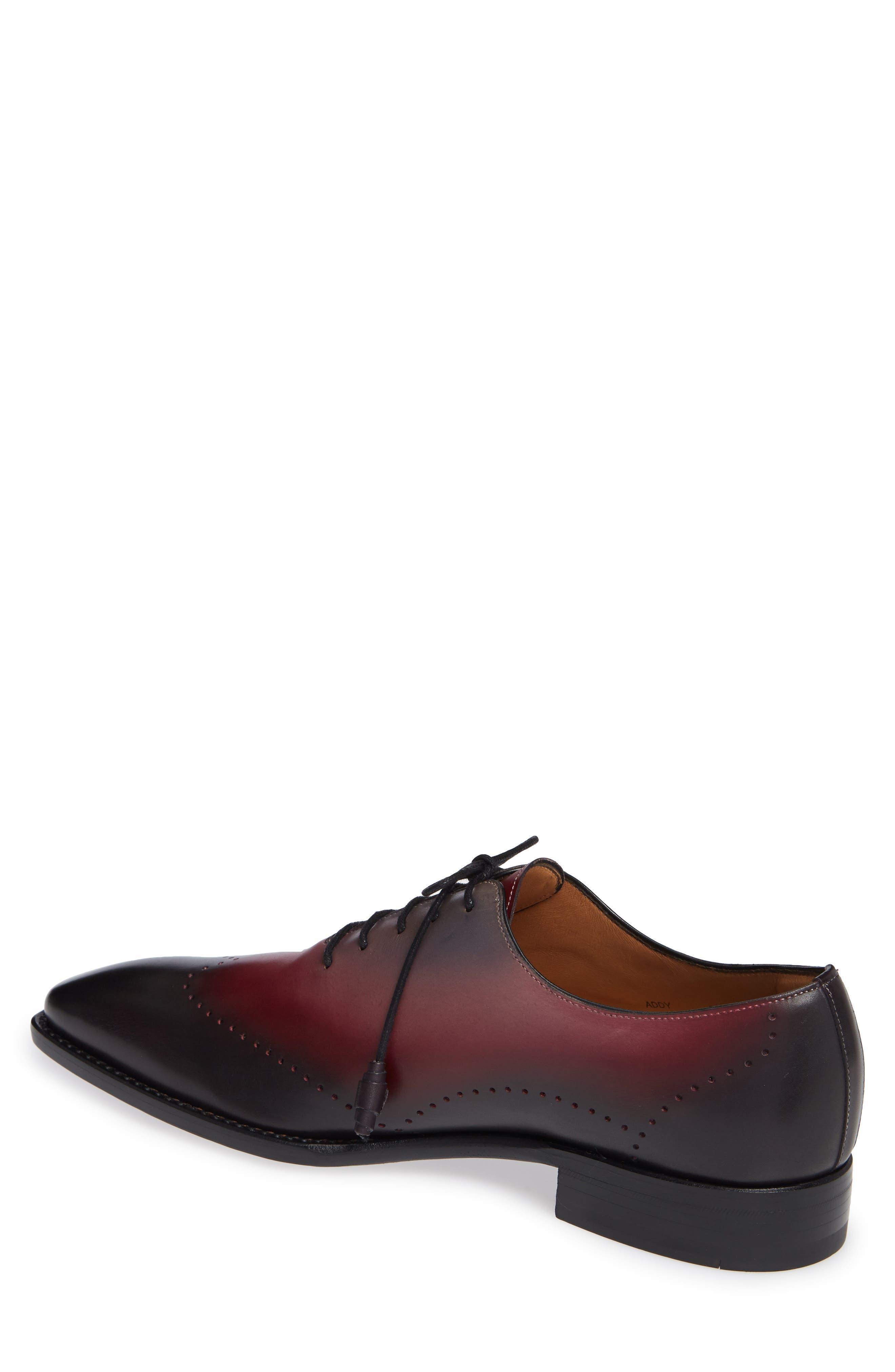Addy Wingtip Whole Cut Shoe,                             Alternate thumbnail 2, color,                             BLACK LEATHER