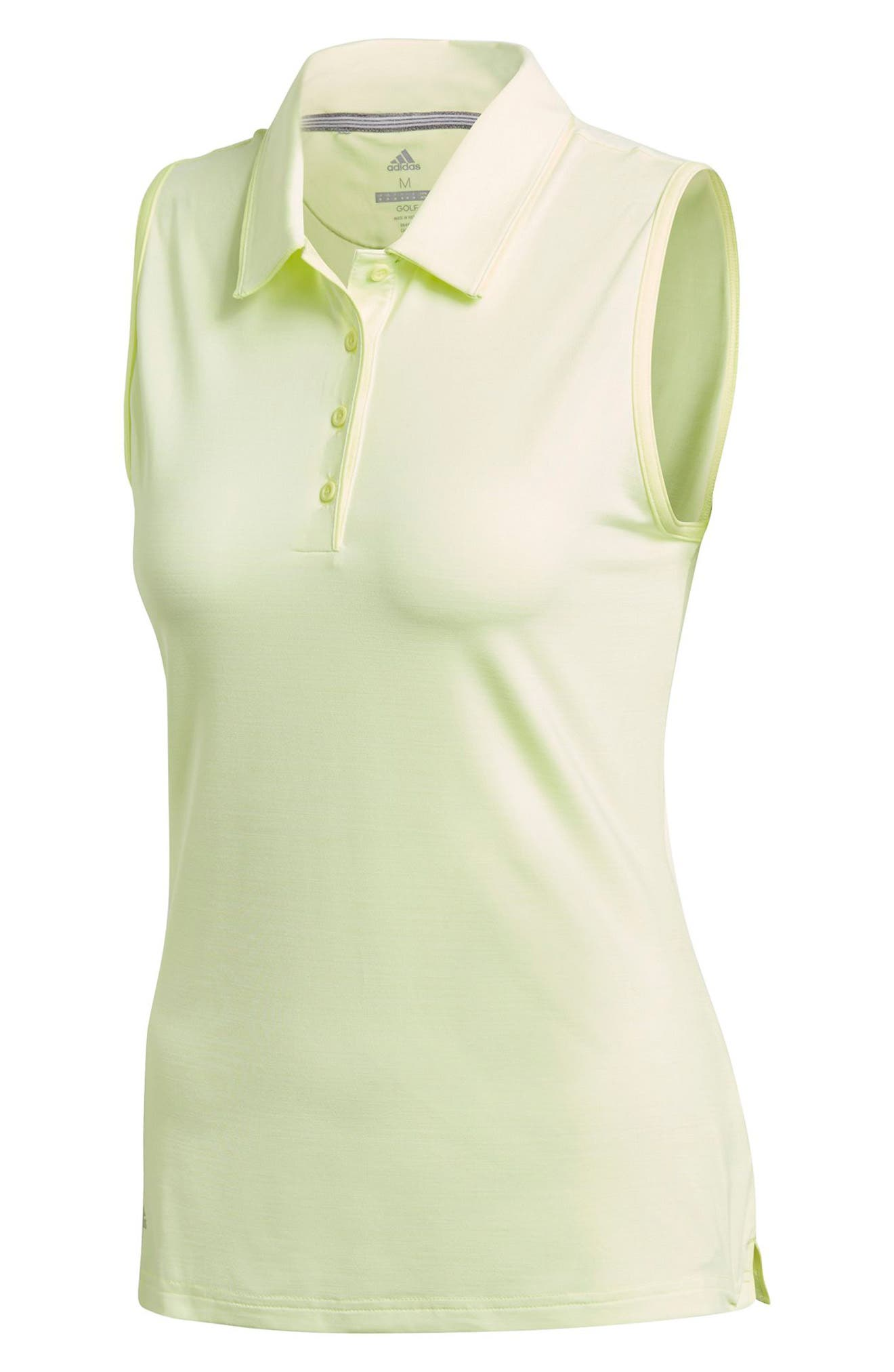 Ultimate365 Sleeveless Golf Polo,                             Alternate thumbnail 6, color,                             FROZEN YELLOW